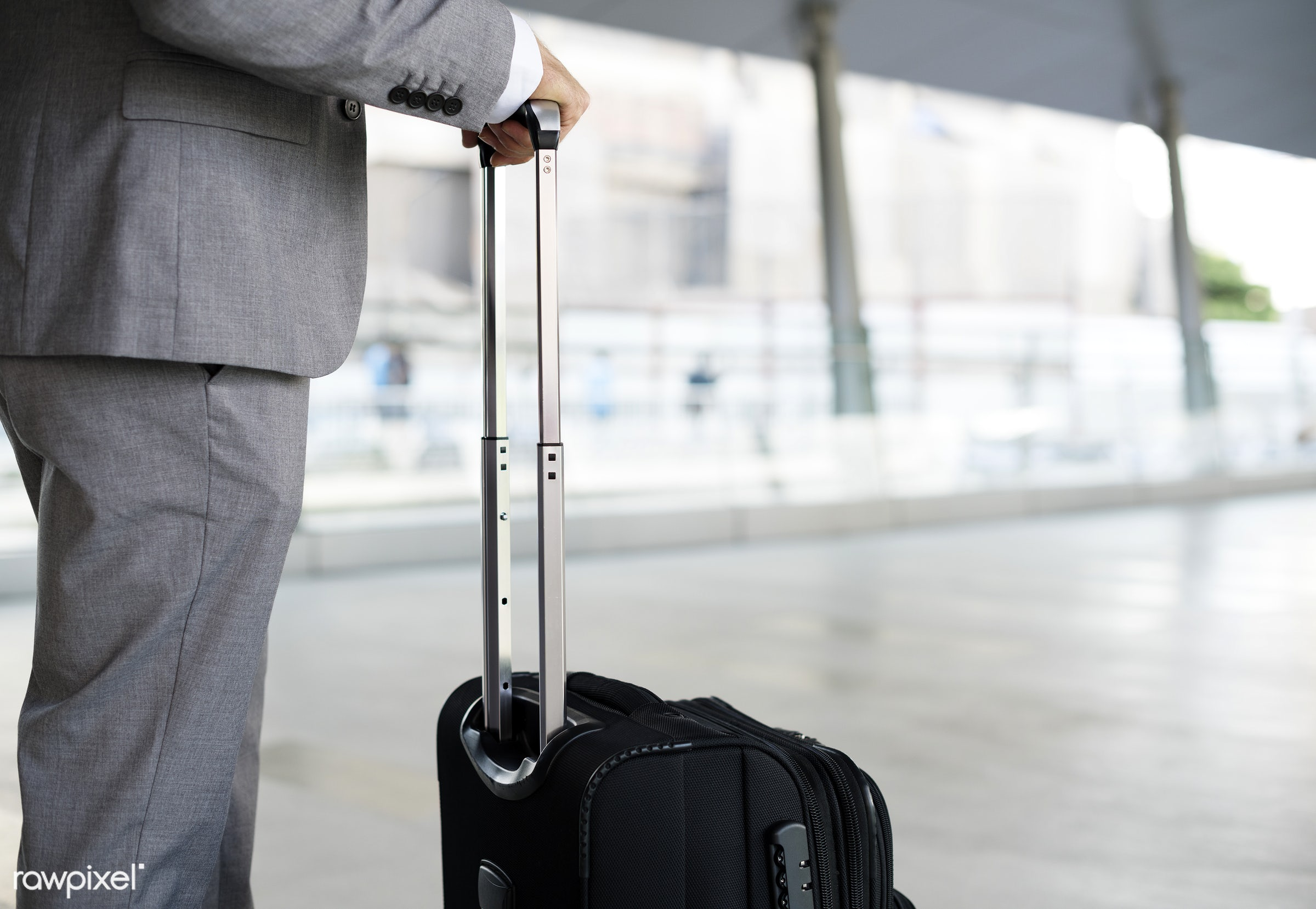 update, expression, business trip, face, person, suit and tie, white collar worker, busy, luggage, indoors, travel, wait,...