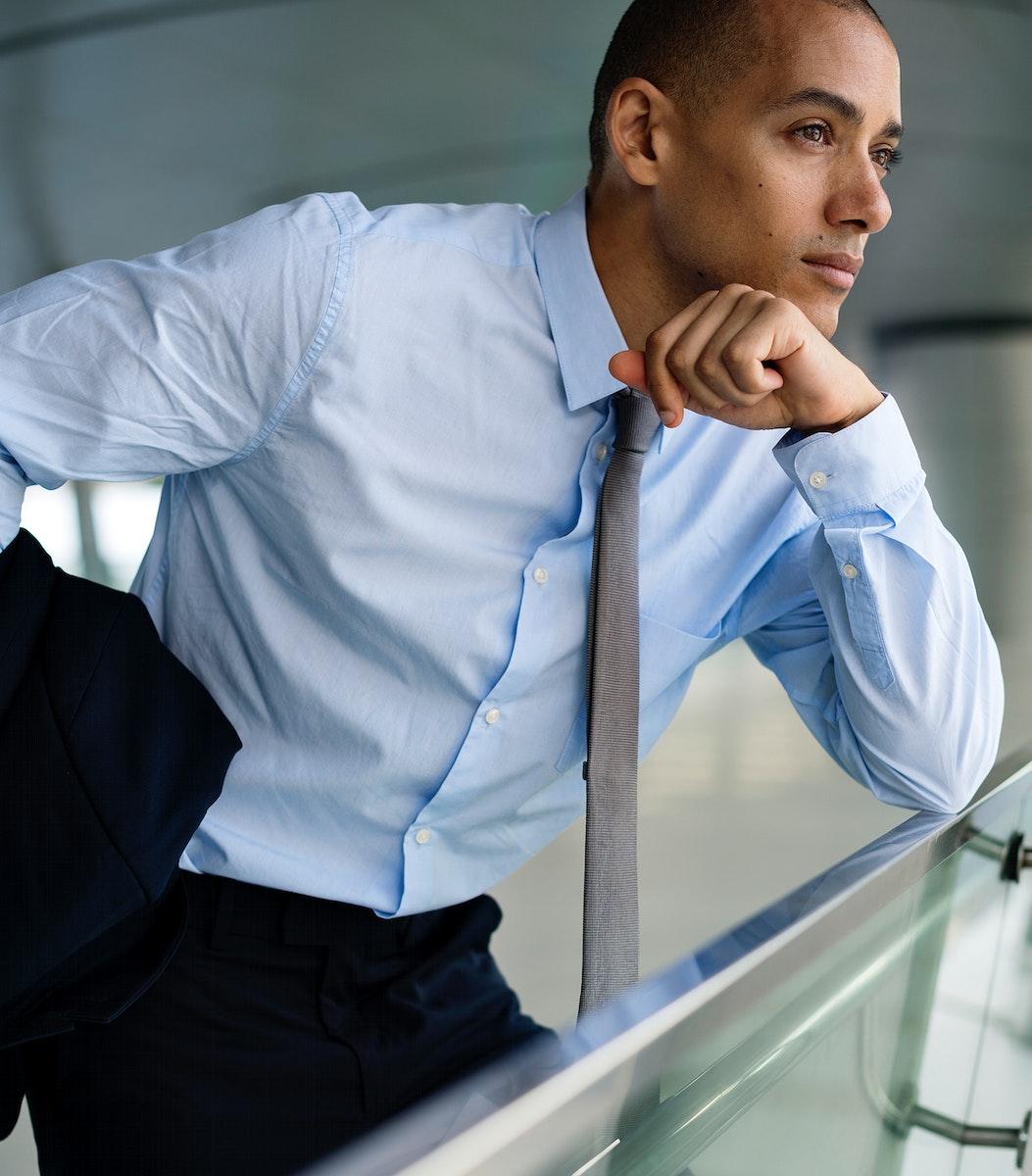 Smart-looking businessman posing