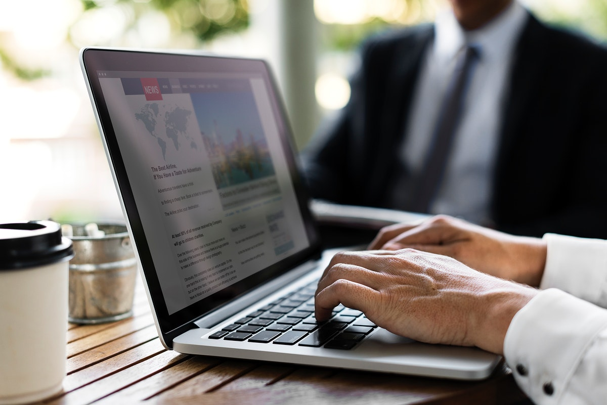 Businesspeople Work Hands Typing Using Laptop