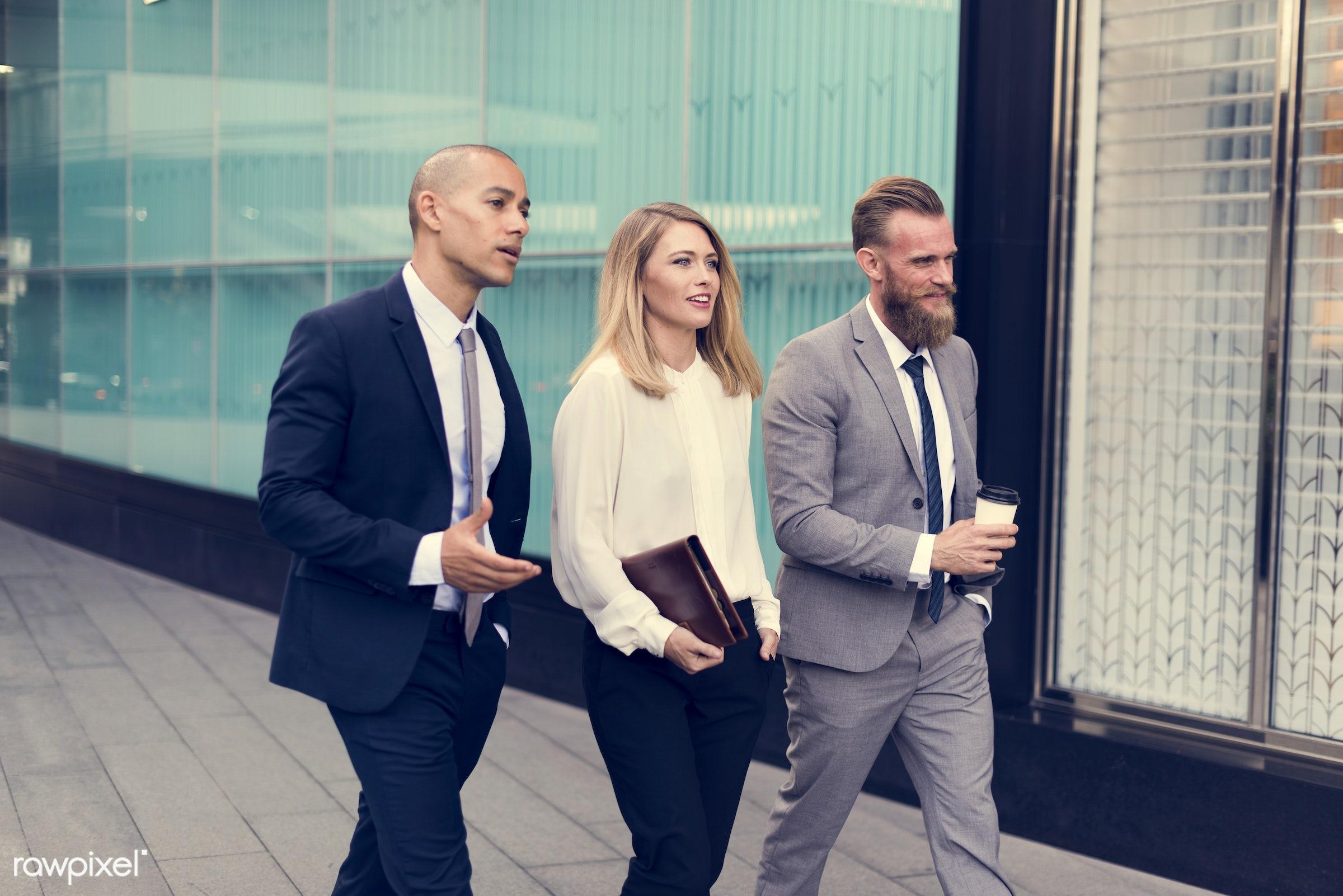 person, suit and tie, white collar worker, people, business, caucasian, break, friends, hands, businesswomen, woman,...