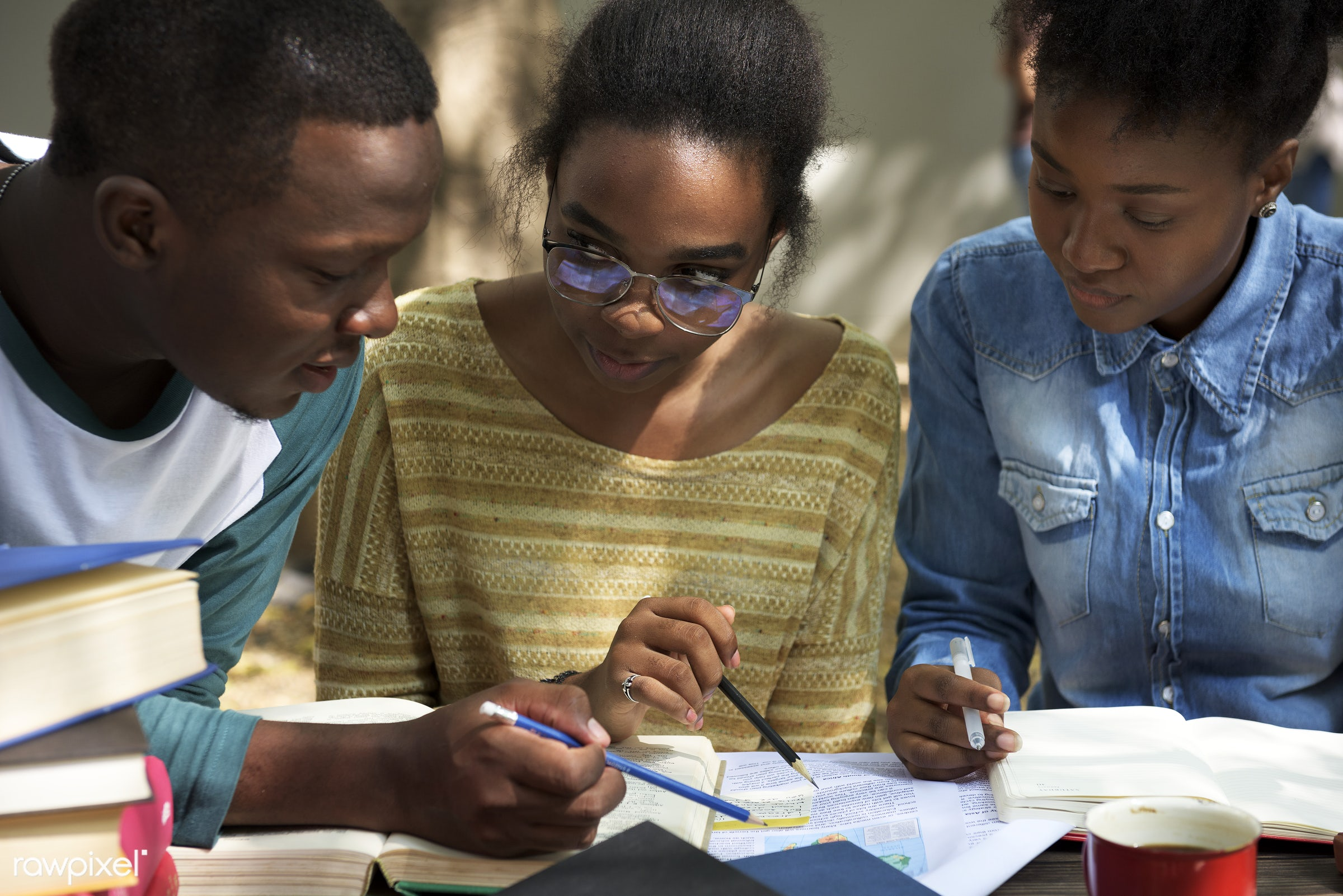 adult, african, african american, analysing, black, book, brainstorming, casual, classmate, collaboration, colleague,...