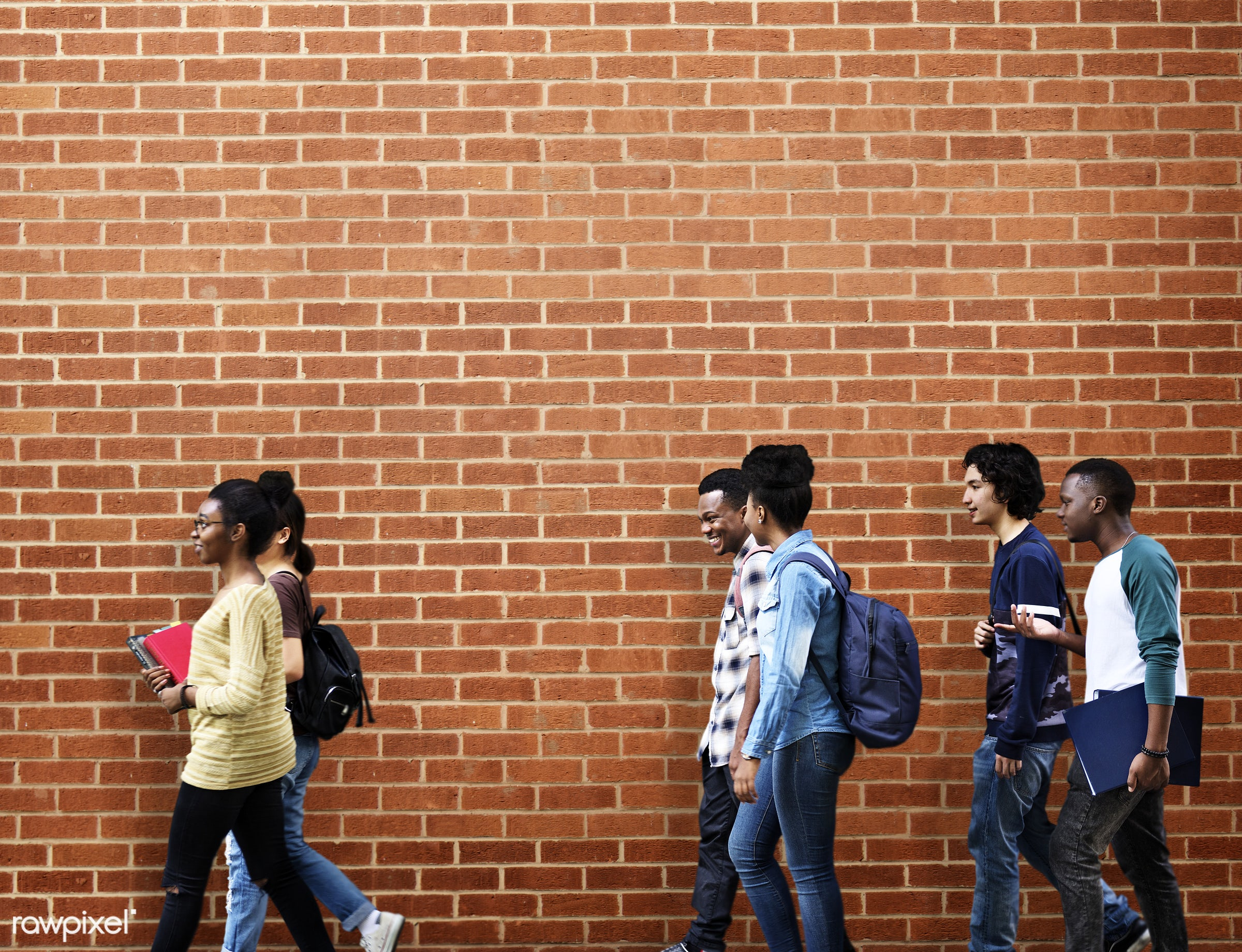 brick wall, mock up, adult, african, asian, background, best friends, black, buddies, casual, chinese, classmate, congolese...