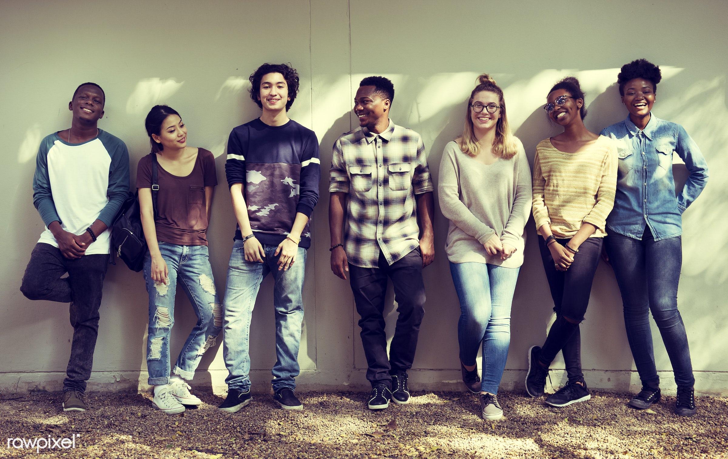 diverse, wisdom, people, teamwork, friends, sharing, student, casual, friendship, men, hipster, university, diversity,...