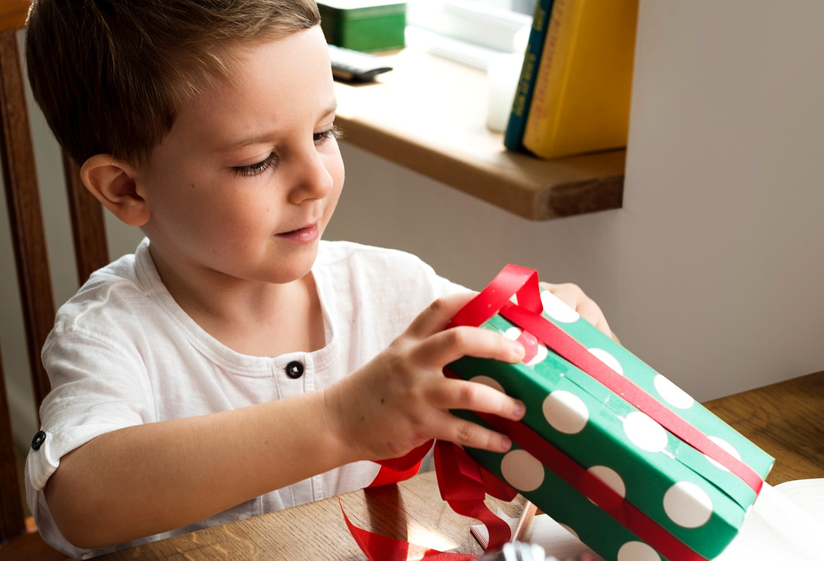 Boy Gift Present Holiday Happiness