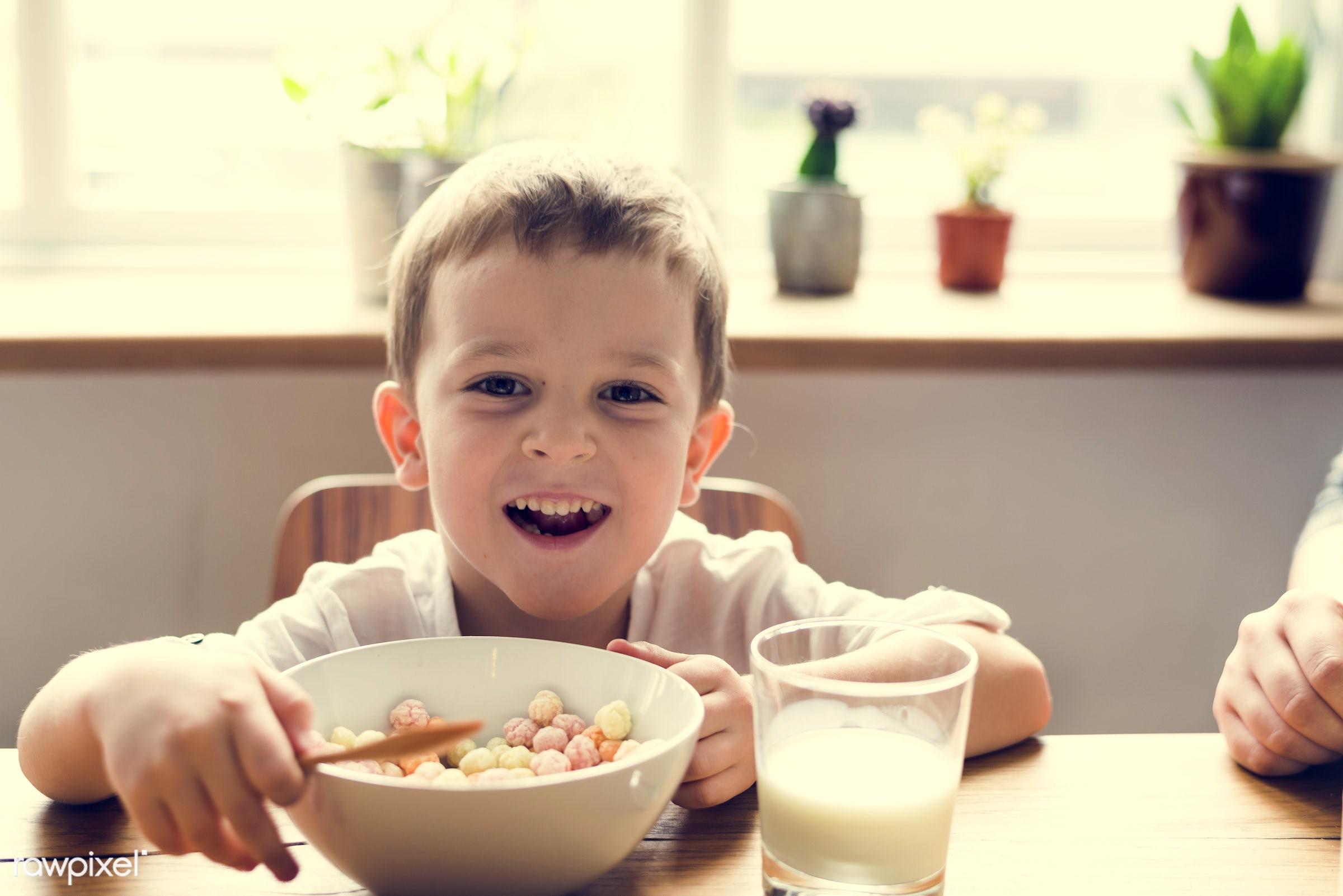 breakfast, plants, little, cute, cornflakes, positivity, sun, kid, child, sunny, happy, milk, sunshine, smile, positive,...