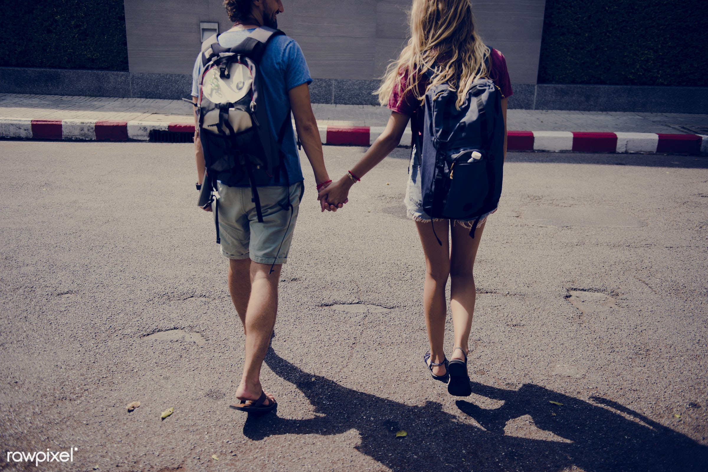 holding, backpackers, travel, people, together, wanderlust, city, woman, partner, connection, destination, holiday, vacation...