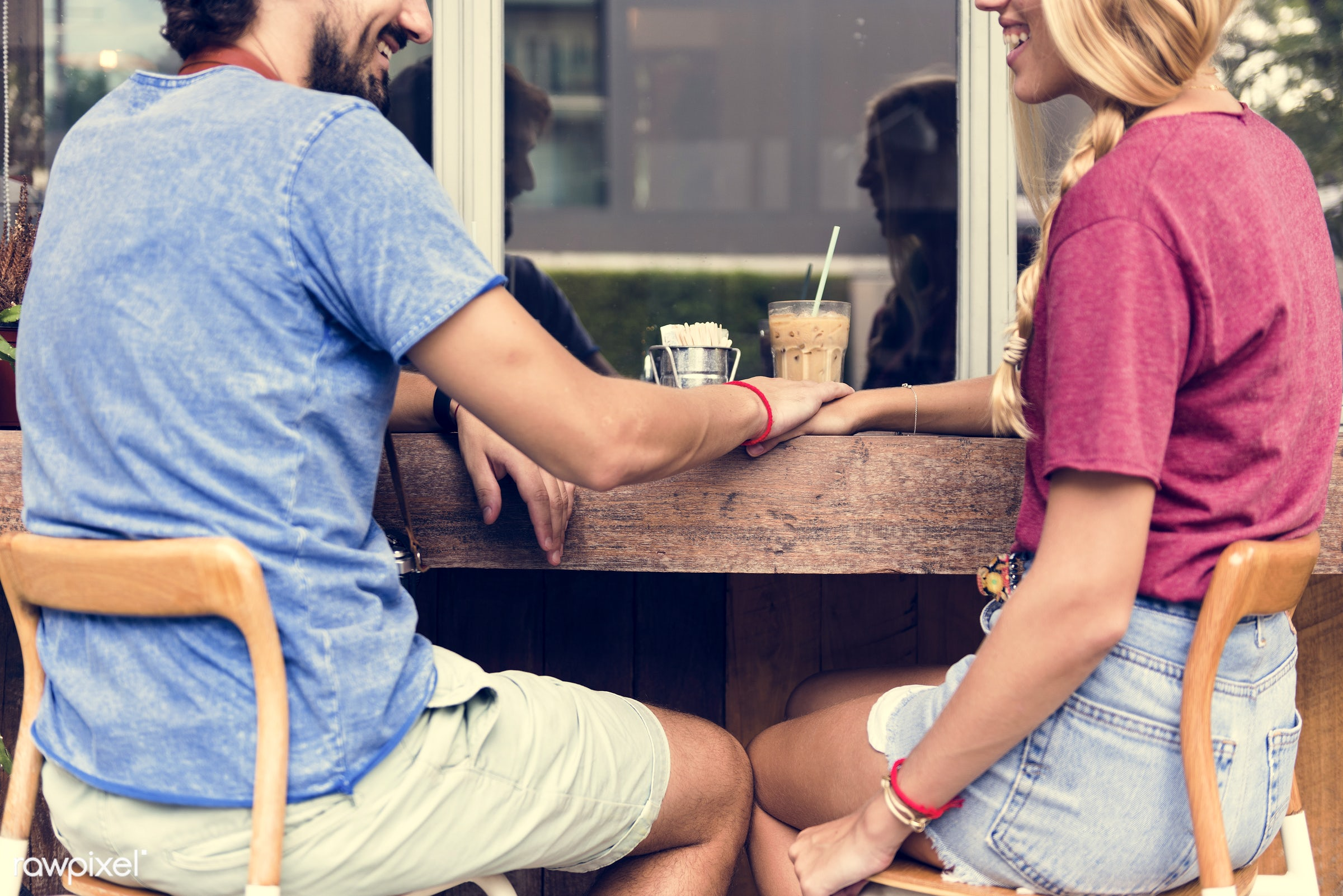 date, restaurant, people, coffee shop, together, love, girl, staring, woman, partner, couple, smile, cheerful, man, smiling...