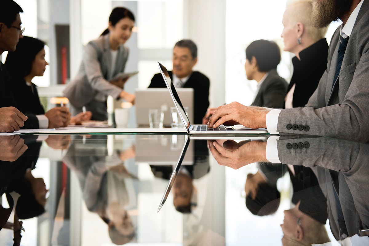 Business people working together in an office