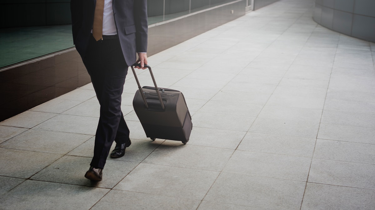 Businessman Traveler Journey Business Travel