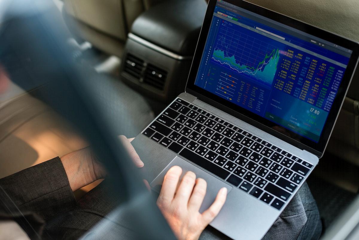 Business People Using Laptop Economic Financial