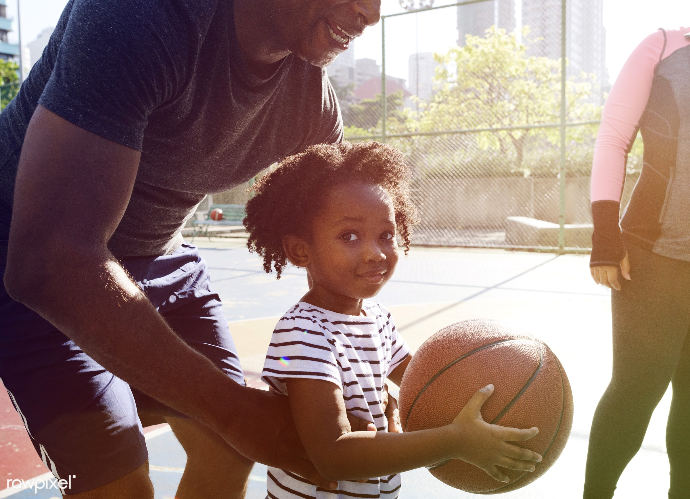 basketball, athletics, player, african, street, court, exercise, recreation, kid, father, child, girl, arena, family,...