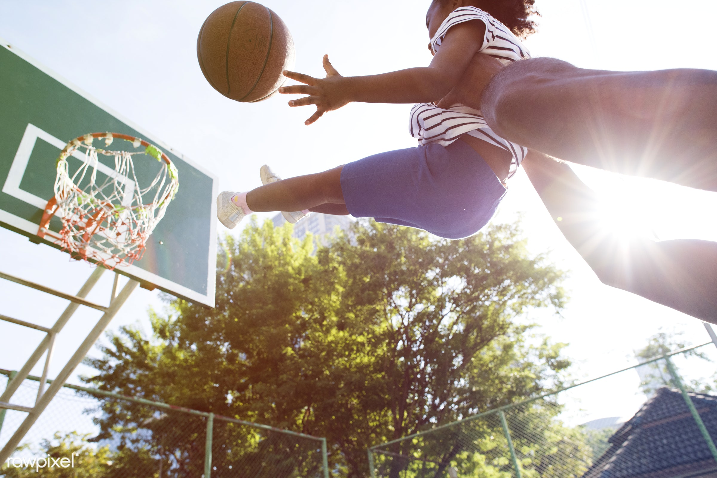 basketball, athletics, player, african, street, court, exercise, recreation, father, arena, family, activity, athlete, ball...