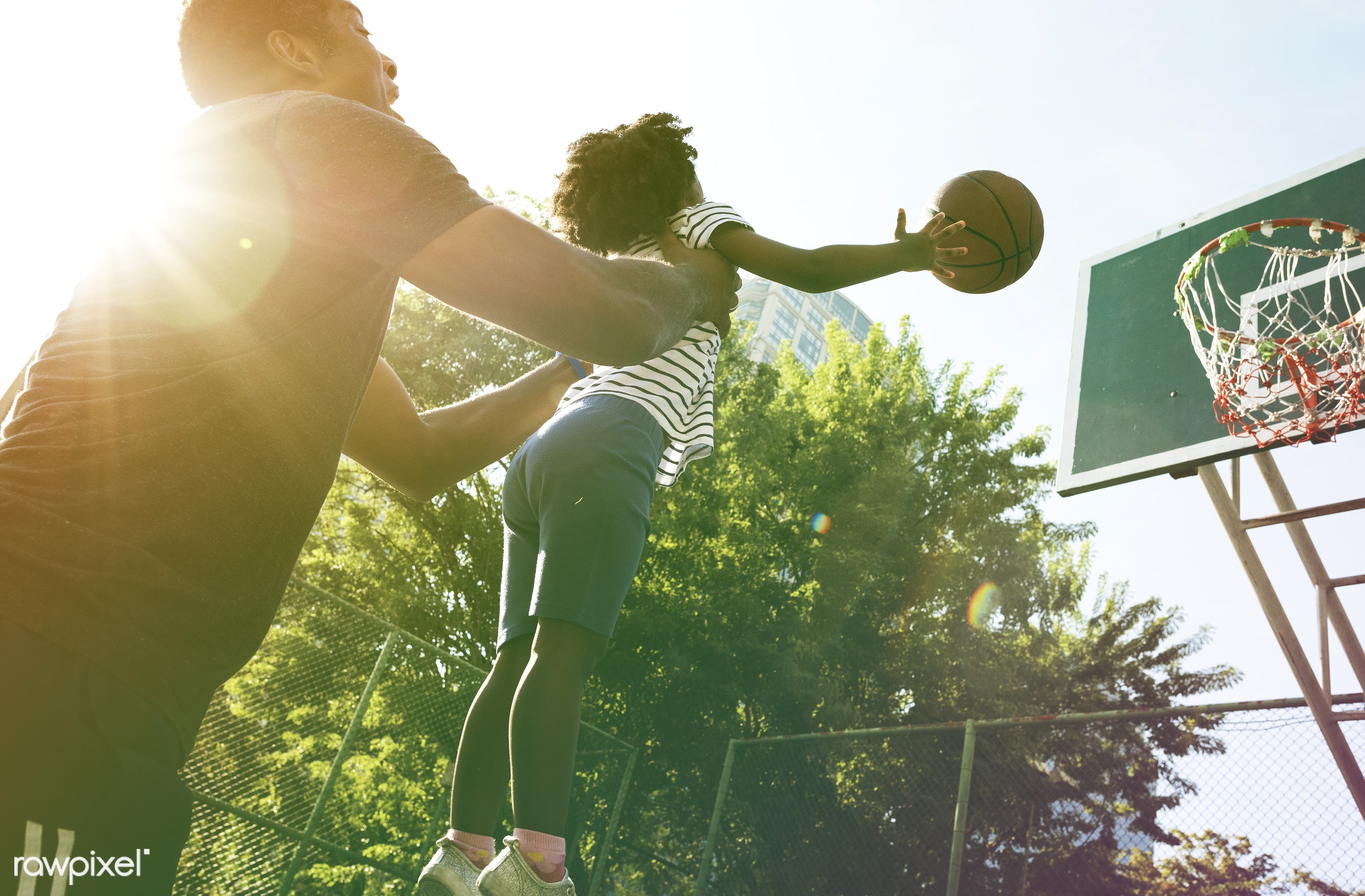 basketball, concept, athletics, player, african, street, exercise, court, faded, vibrant, recreation, father, style, arena,...