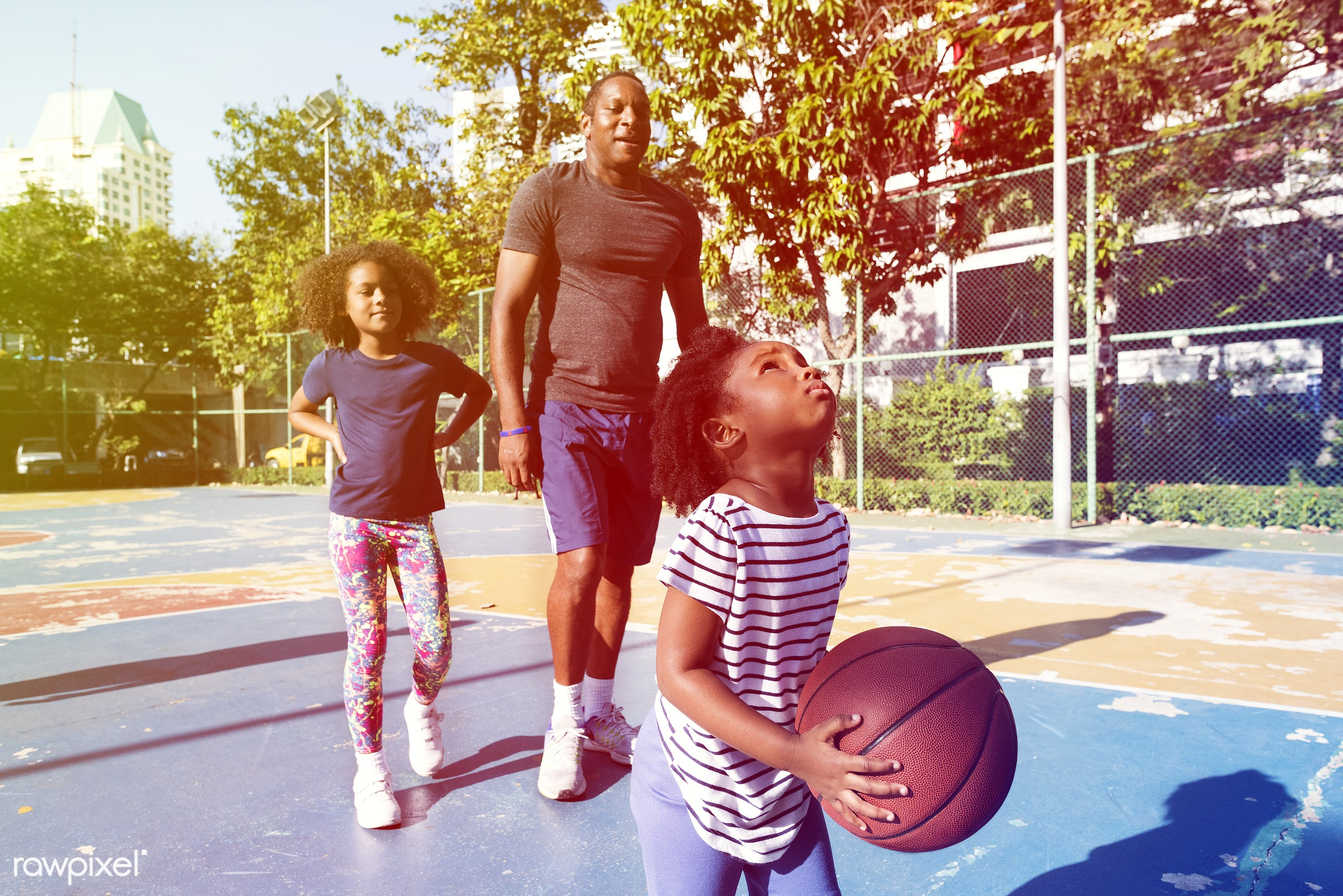 basketball, athletics, player, african, street, court, exercise, recreation, father, girl, arena, family, activity, athlete...