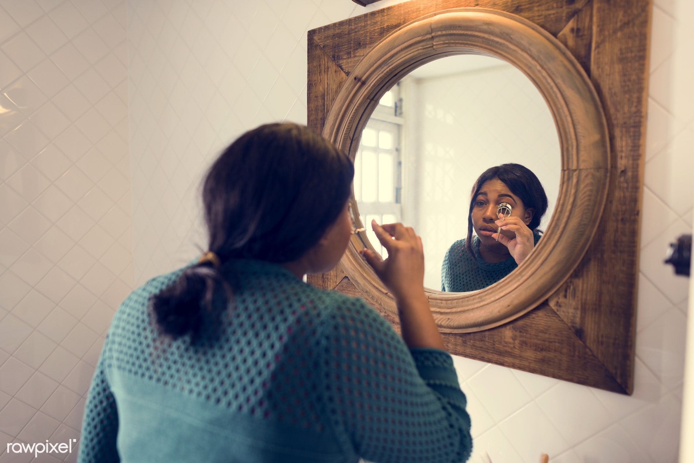 trends, face, fashion, african, makeup, powder, beauty, make-up, skin, glamour, mirror, girl, style, woman, attractive,...