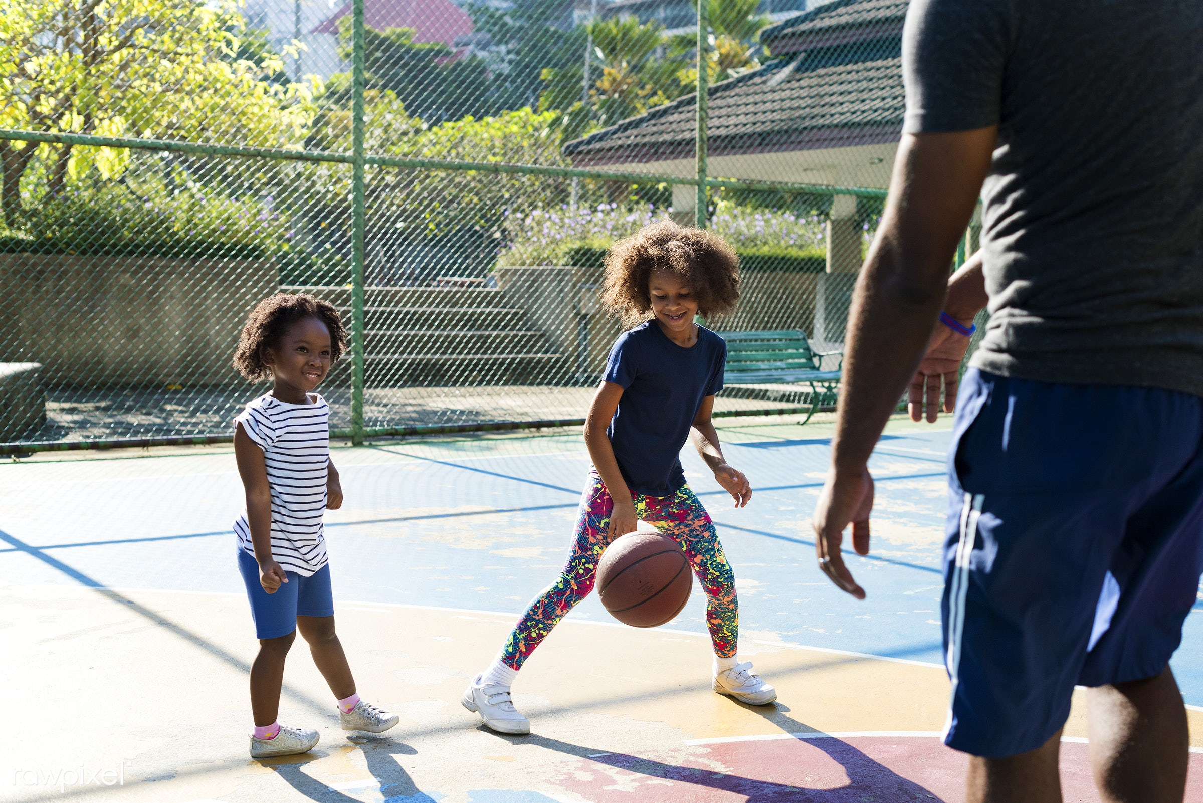 basketball, athletics, player, african, street, court, exercise, recreation, sister, arena, family, activity, athlete, ball...