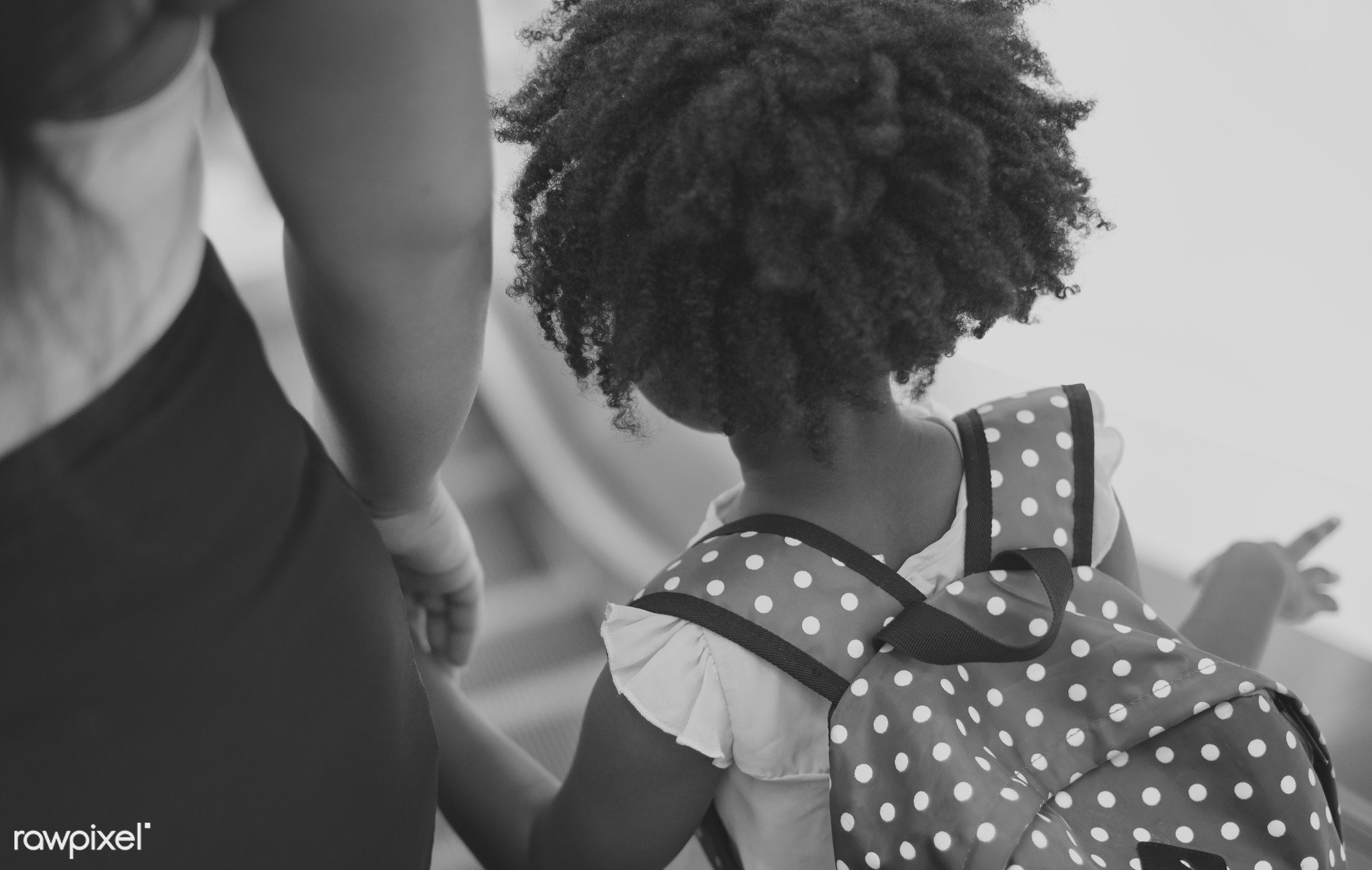 african, holding, children, people, together, kid, hand, child, girl, family, casual, backpack, childhood, generation,...