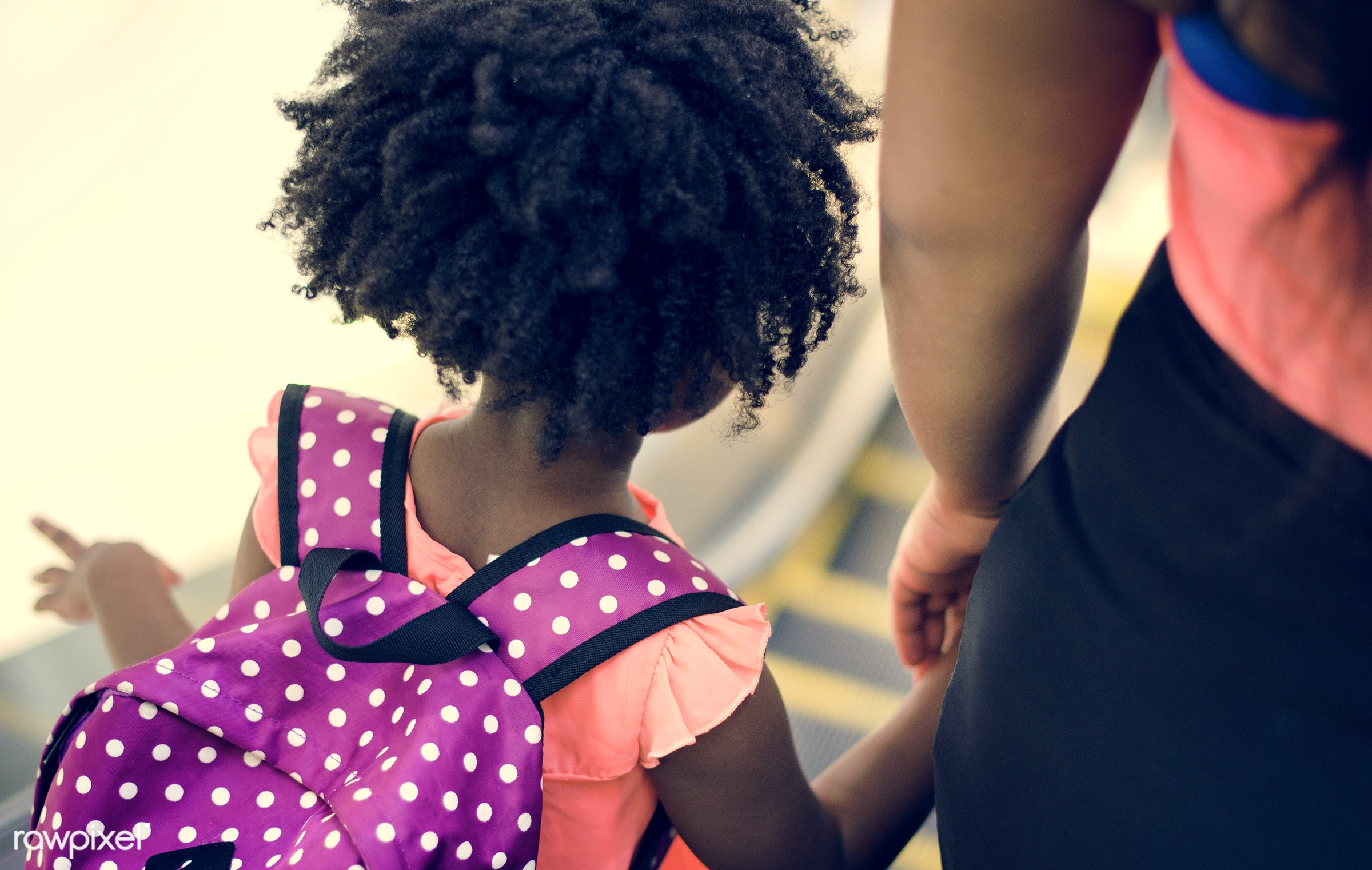 african, holding, children, people, together, kid, child, hand, girl, family, casual, backpack, childhood, generation,...