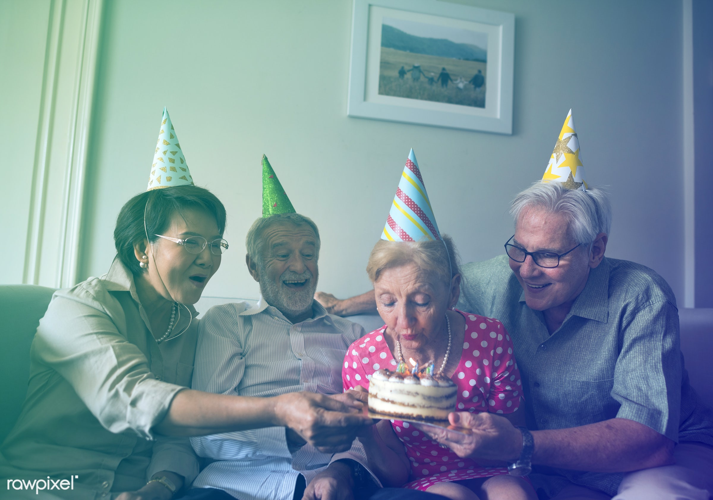 expression, person, faded, vibrant, house, people, caucasian, asian, hat, retirement, friends, blend, lifestyle, friendship...