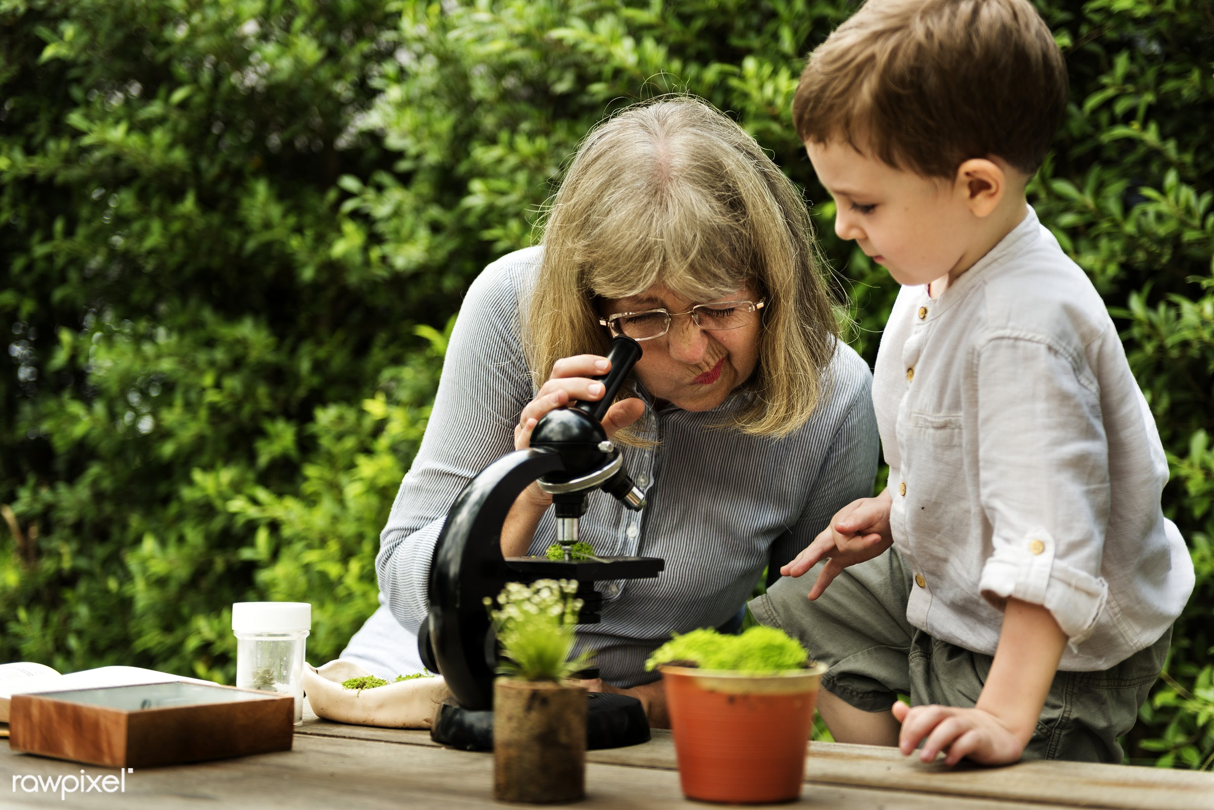 plant, positivity, kid, microscope, science, child, life, micro, lifestyle, experiment, pottery, smile, positive, grandson,...