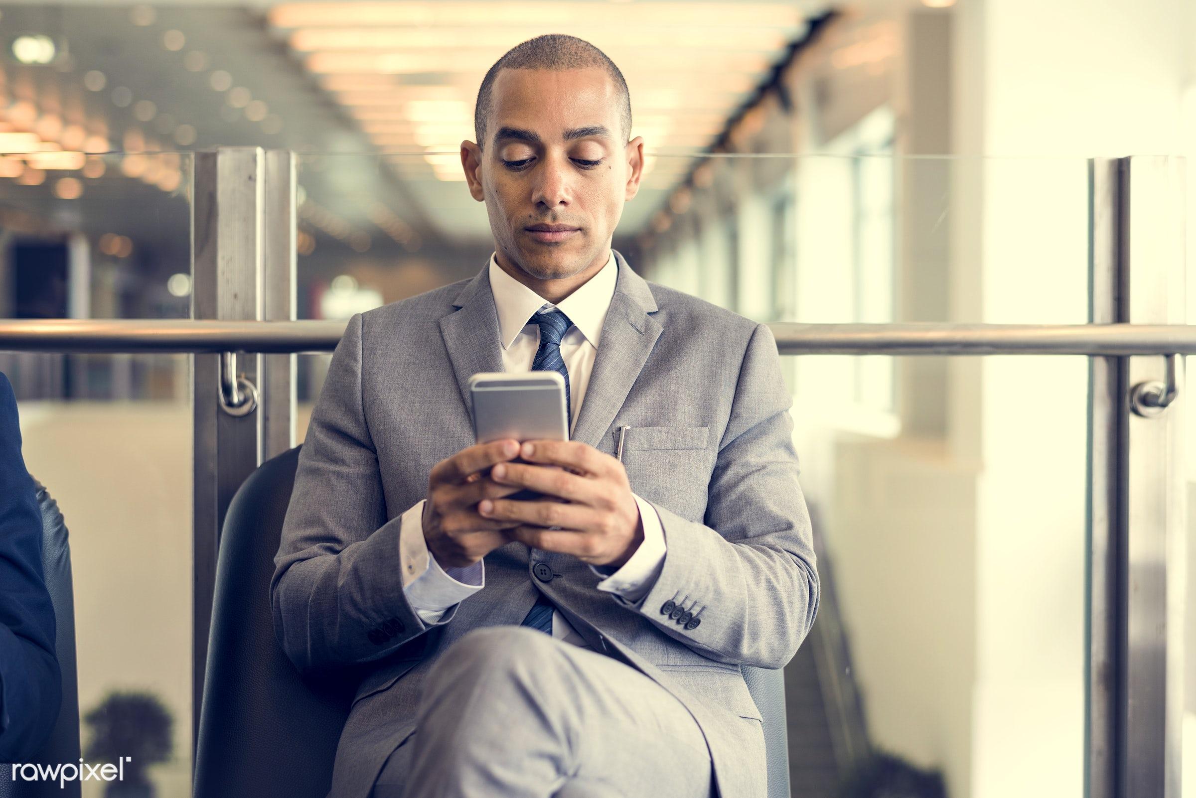 adult, break, business, businessman, businessmen, candid, cellphone, chairs, communication, corporate, device, digital...