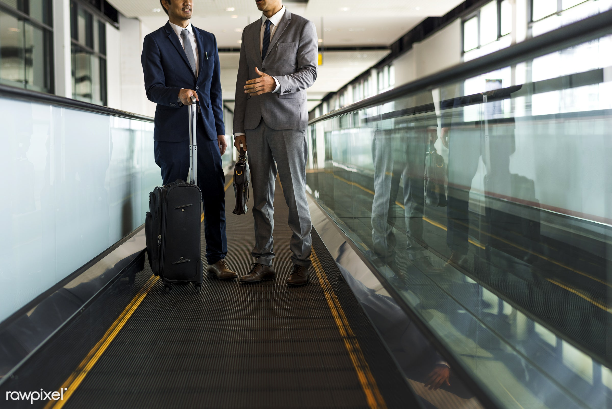baggage, business trip, person, manager, suit and tie, white collar worker, diverse, luggage, travel, people, business,...