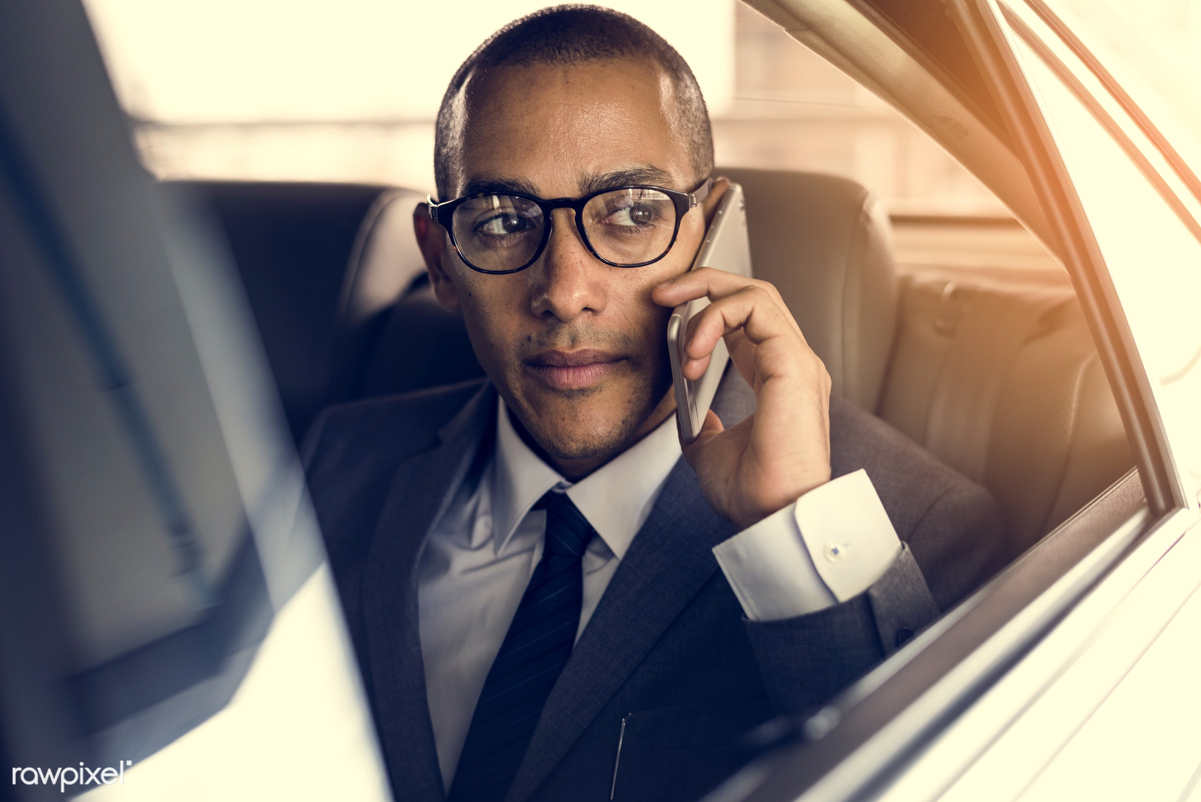 adult, back seat, business, businessman, businessmen, call, candid, car, communication, corporate, device, digital device,...