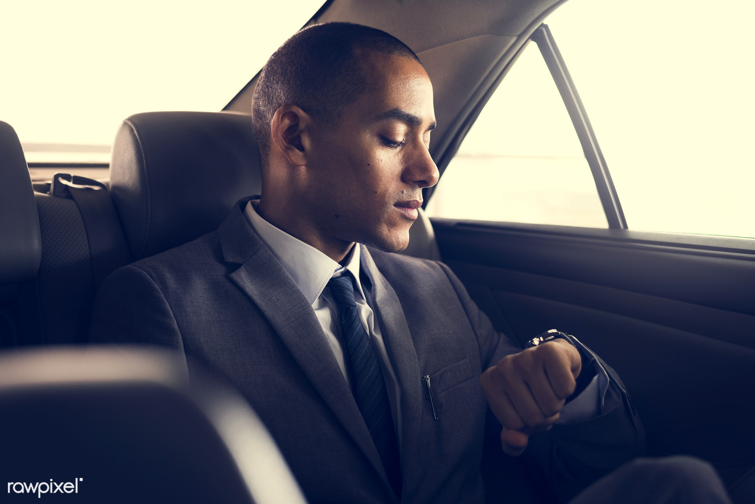 adult, back seat, business, businessman, businessmen, candid, car, corporate, device, digital device, employee, ethnicity,...