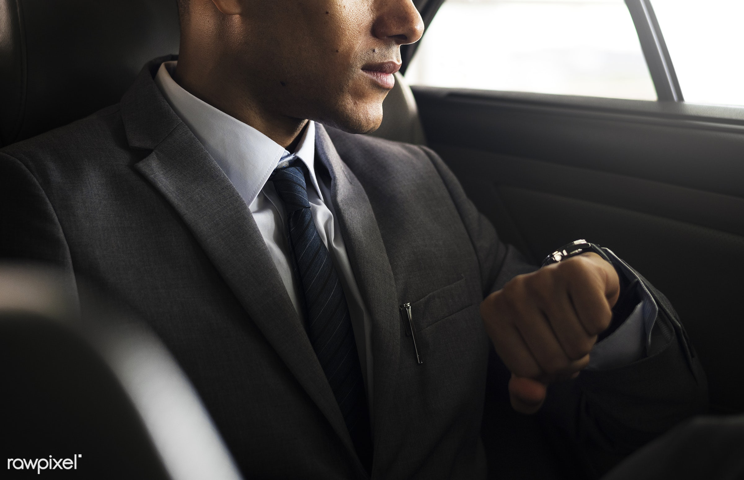 businessman, suit, corporate, person, adult, back seat, business, businessmen, candid, car, employee, ethnicity, expression...