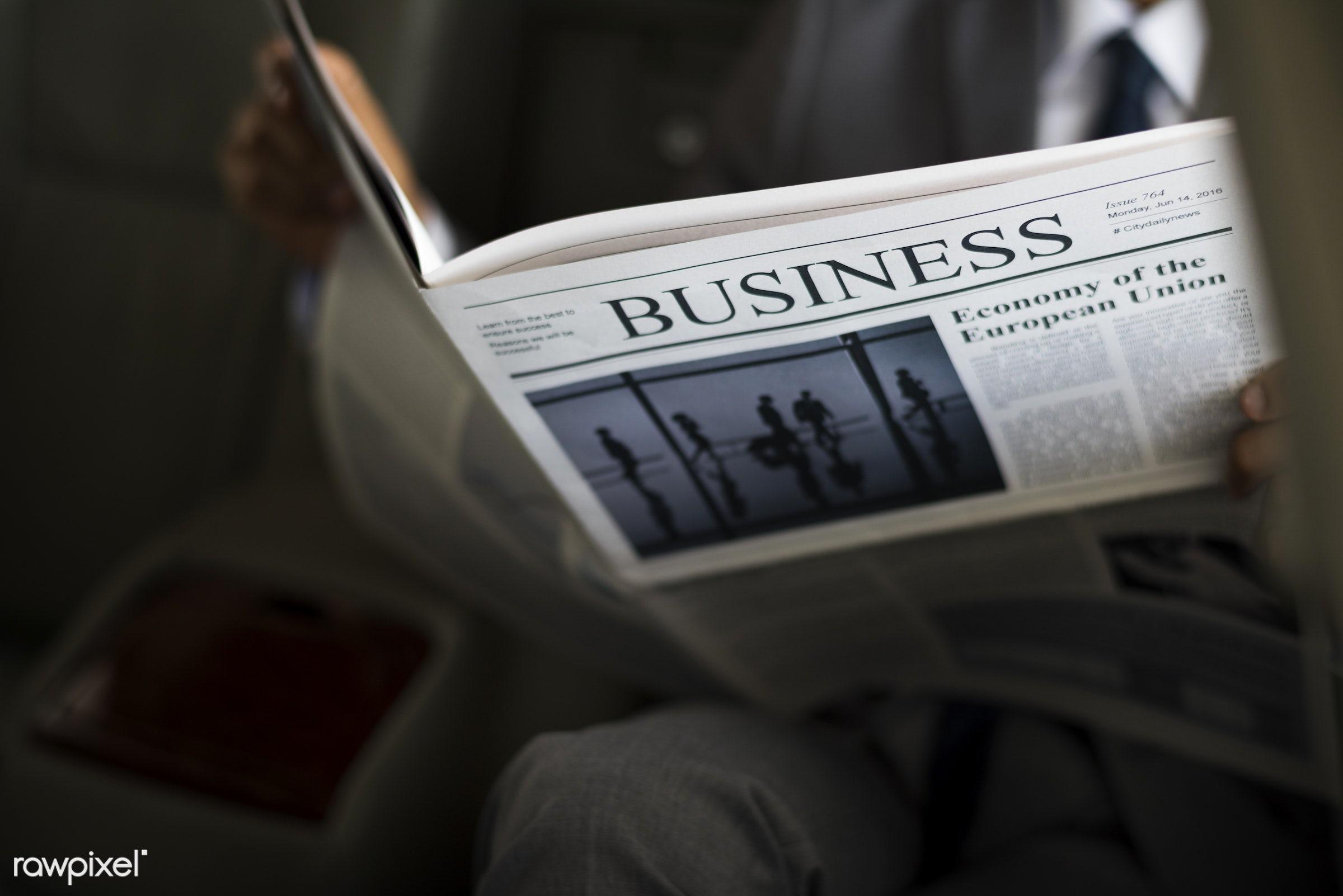 news, car, newspaper, relax, adult, back seat, break, breaking news, business, businessman, businessmen, candid,...
