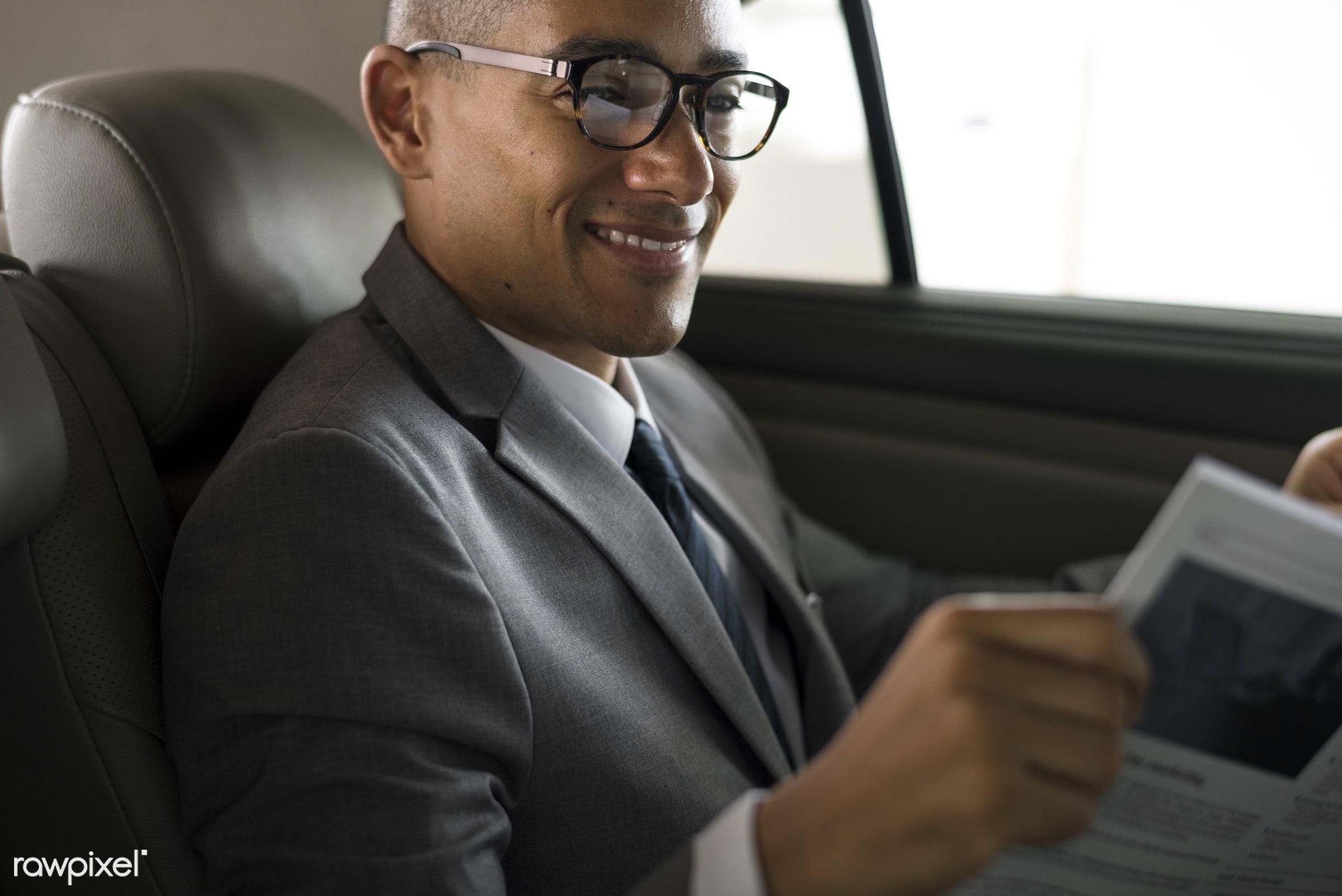 car, adult, back seat, break, breaking news, business, businessman, businessmen, candid, communication, corporate, employee...