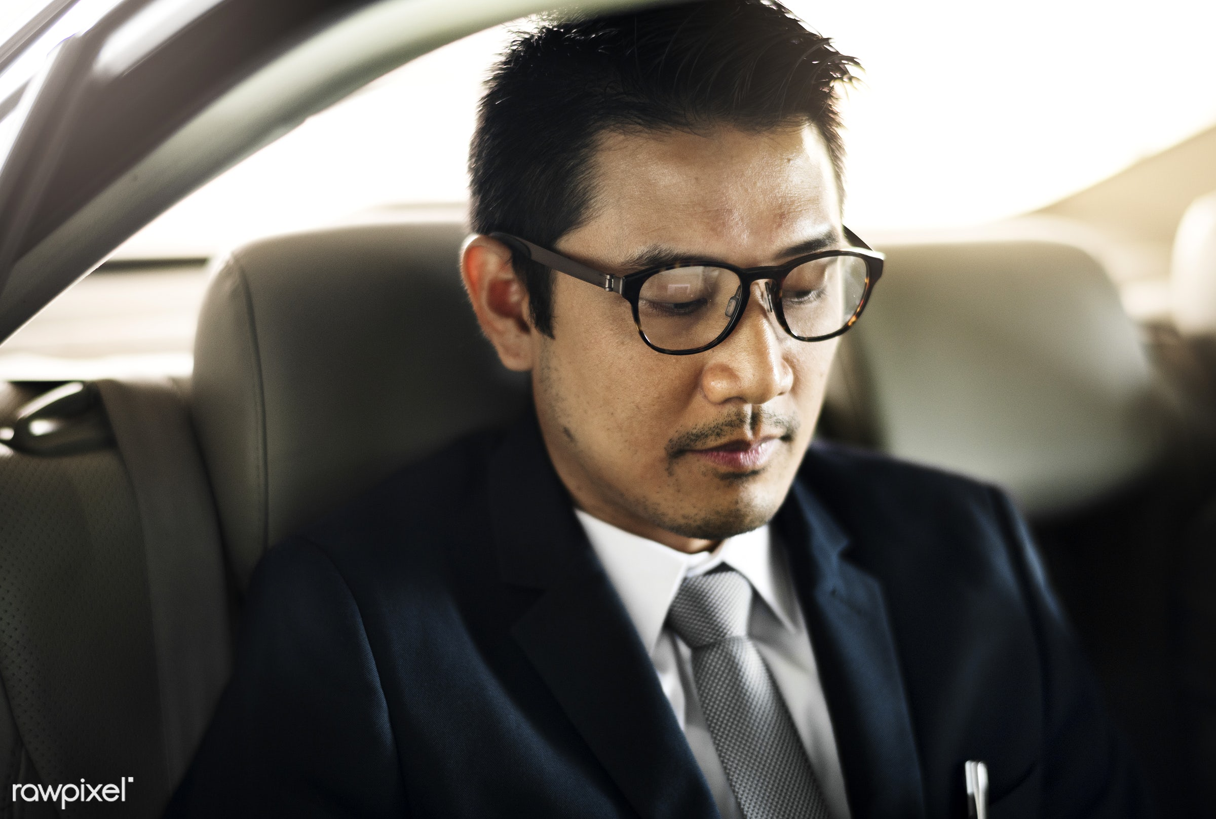 adult, back seat, business, businessman, businessmen, candid, car, corporate, employee, ethnicity, expression, face, formal...