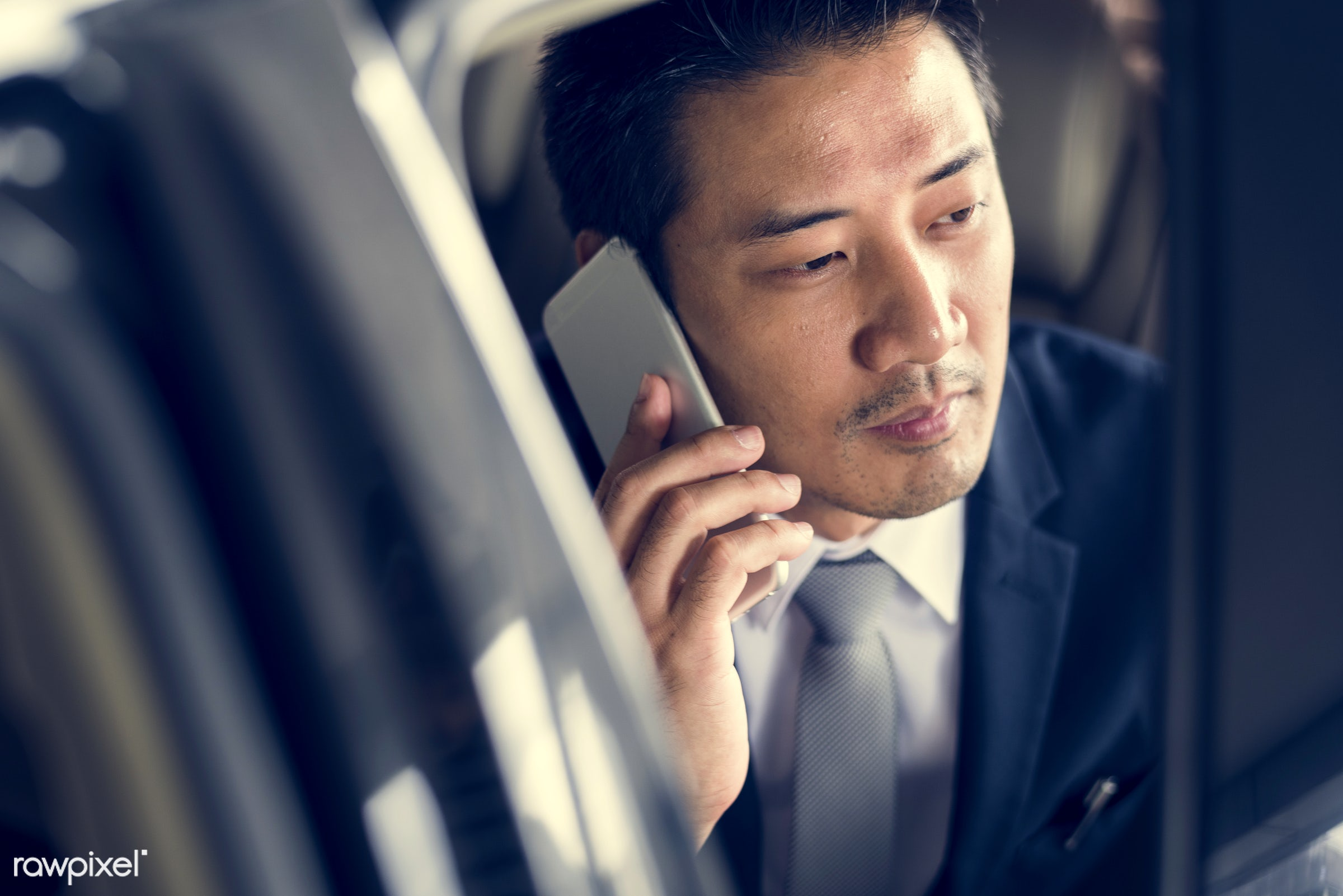 expression, car, face, person, phone, suit and tie, tie, white collar worker, vehicle, travel, transportation, people,...