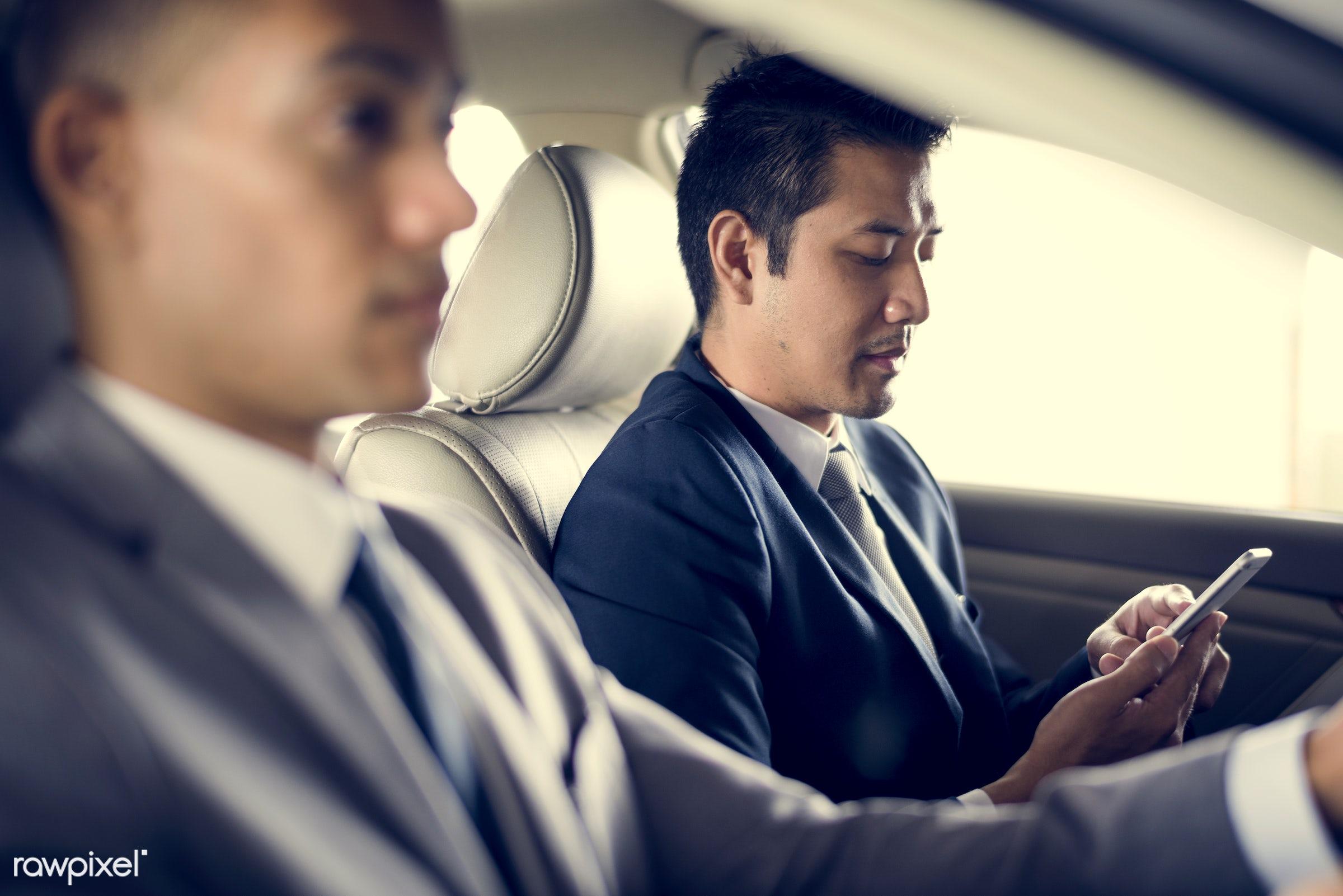 adult, business, businessman, businessmen, candid, car, colleague, communication, corporate, device, digital device,...