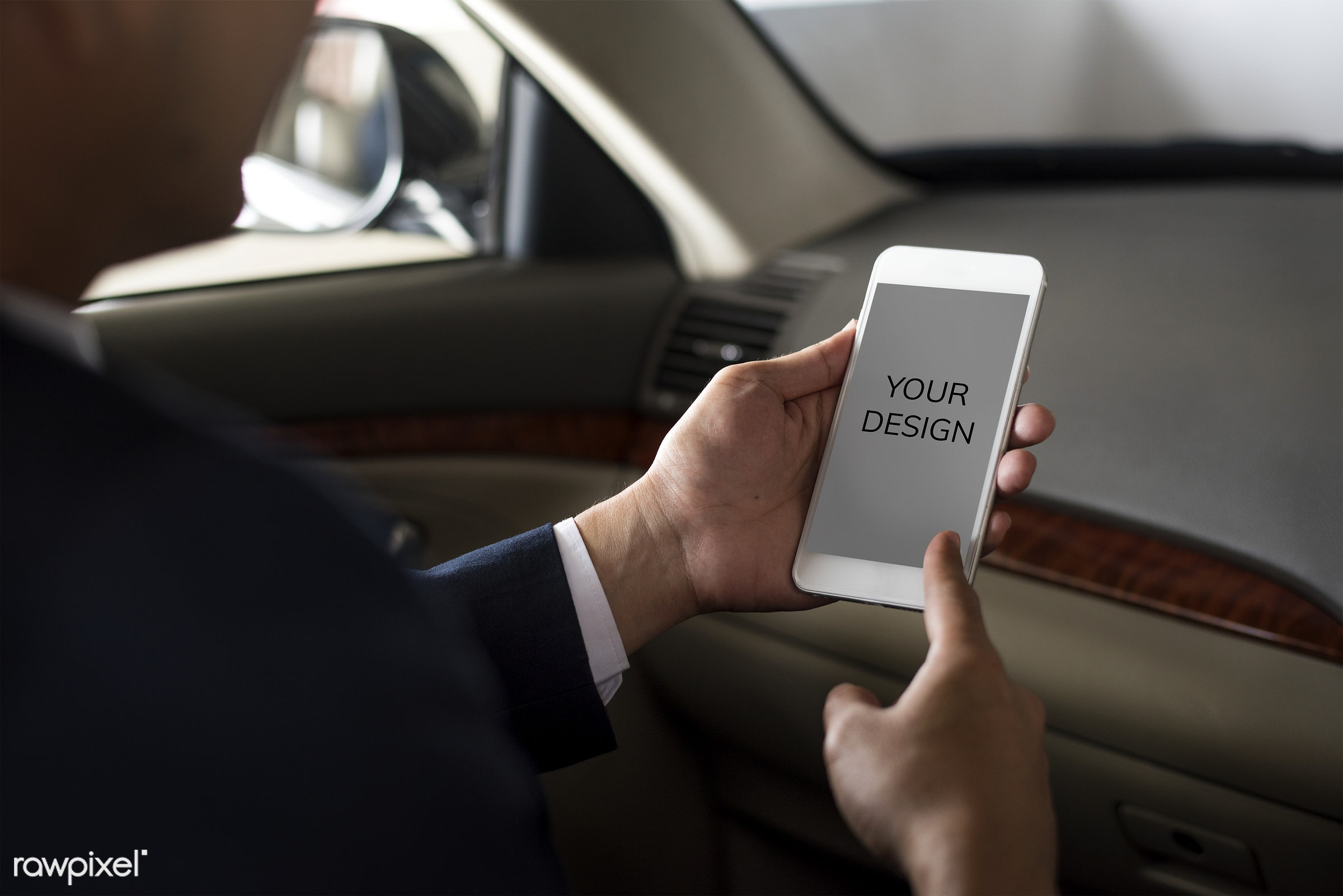 phone, mock up, business, transport, adult, back seat, blank, businessman, candid, car, cellphone, colleague, communication...