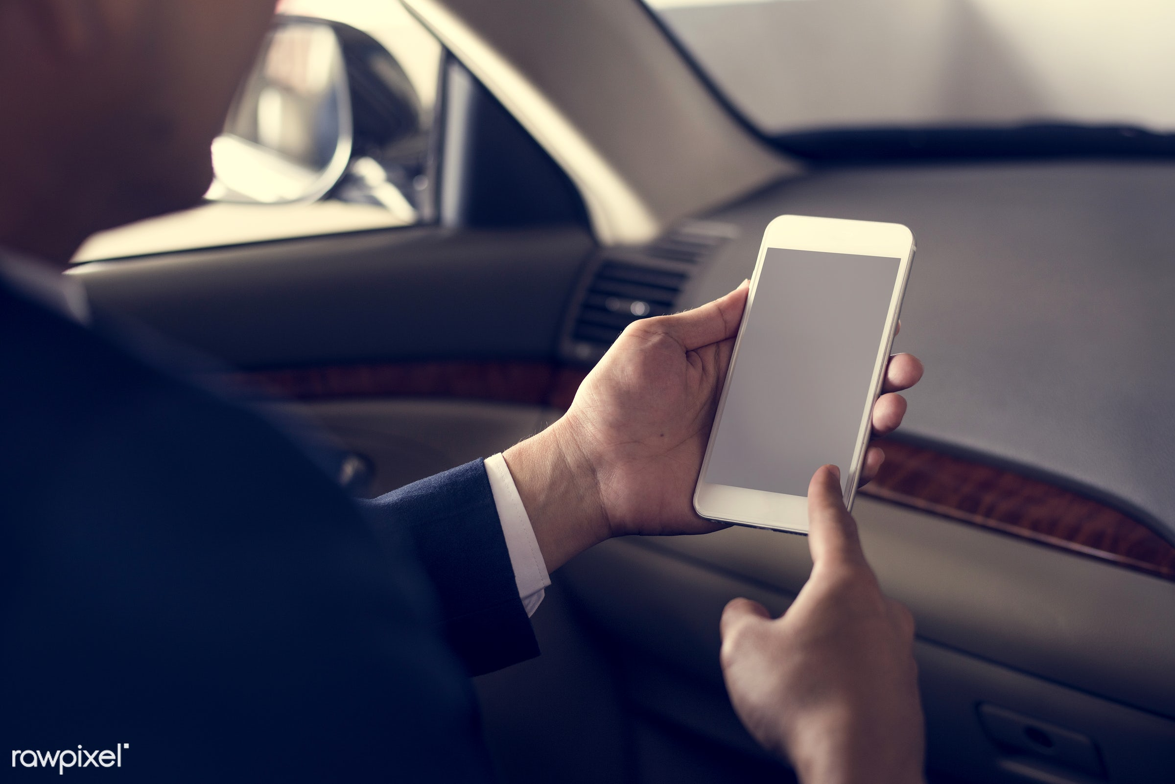 adult, back seat, blank, business, businessman, businessmen, candid, car, cellphone, colleague, communication, copy space,...