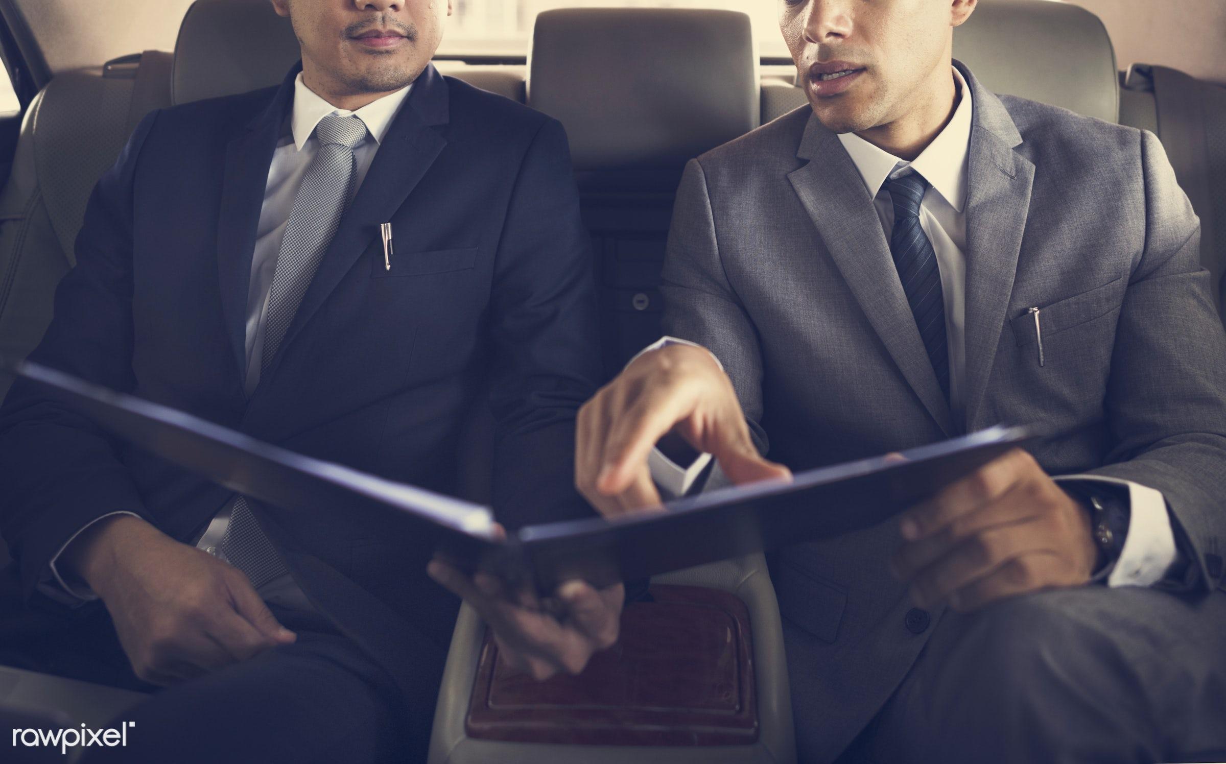 work, adult, analytics, analyze, back seat, business, business men, business people, businessman, businessmen, candid, car,...