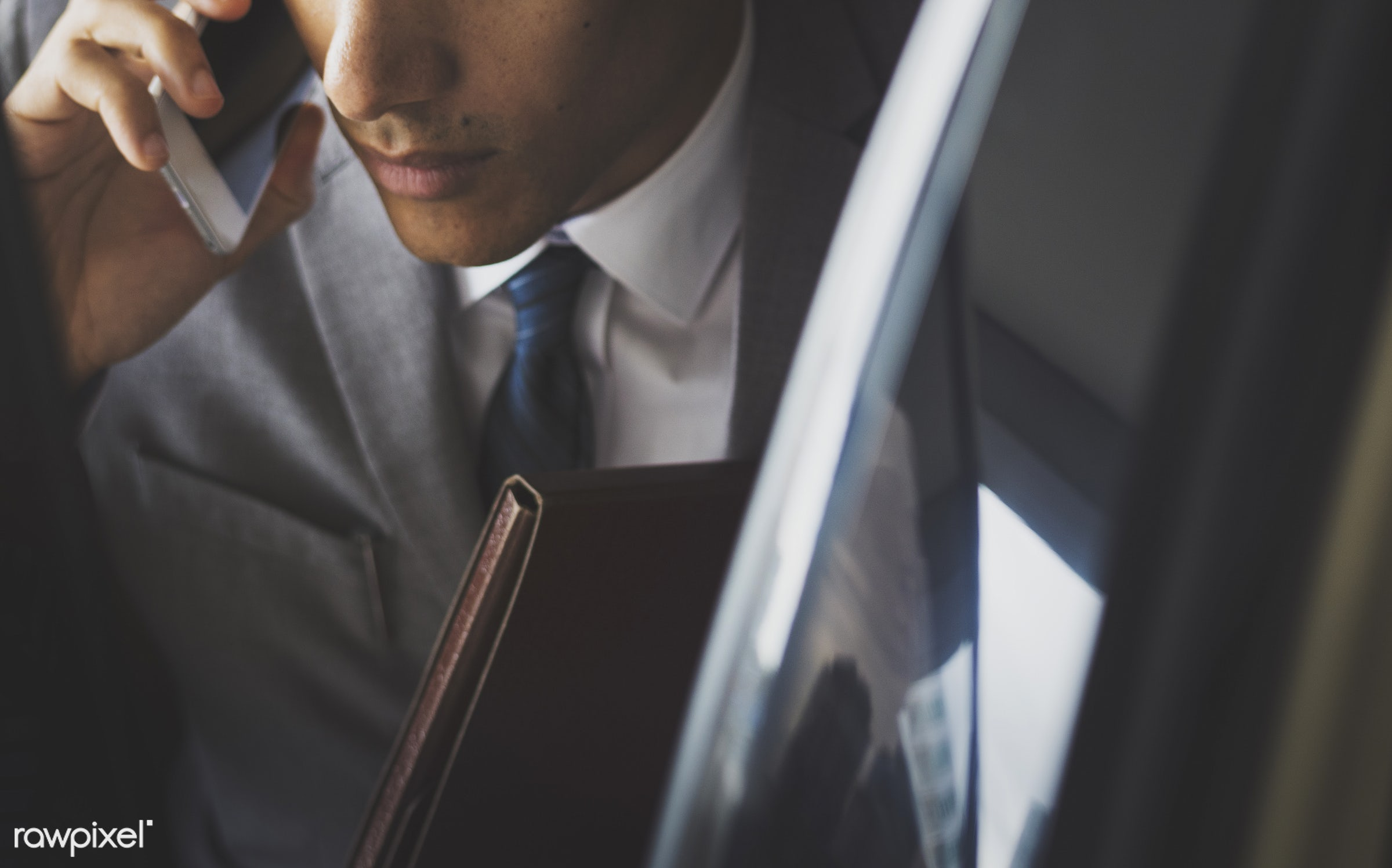 Businessman on the phone - corporate, call, car, phone, suit, adult, business, businessman, businessmen, candid, cellphone,...