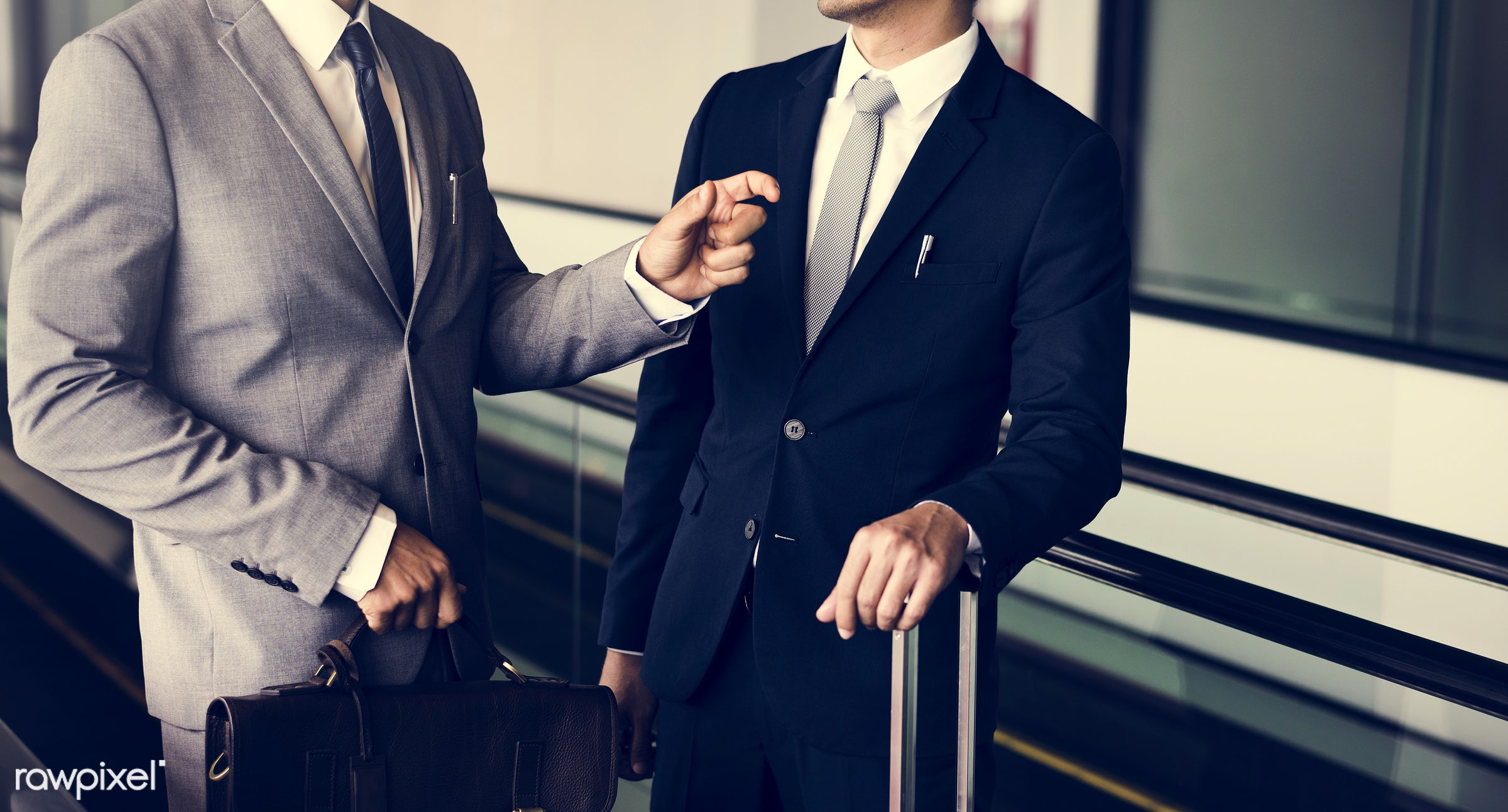business trip, baggage, person, manager, suit and tie, diverse, white collar worker, luggage, travel, people, together,...