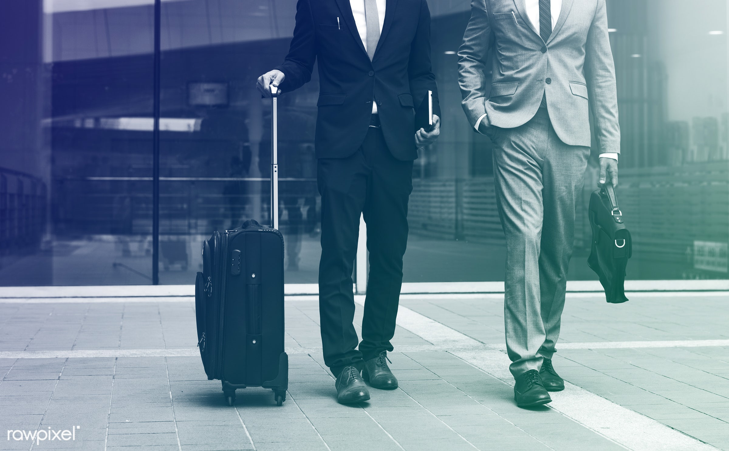 business trip, expression, person, manager, white collar worker, diverse, luggage, travel, people, together, caucasian,...