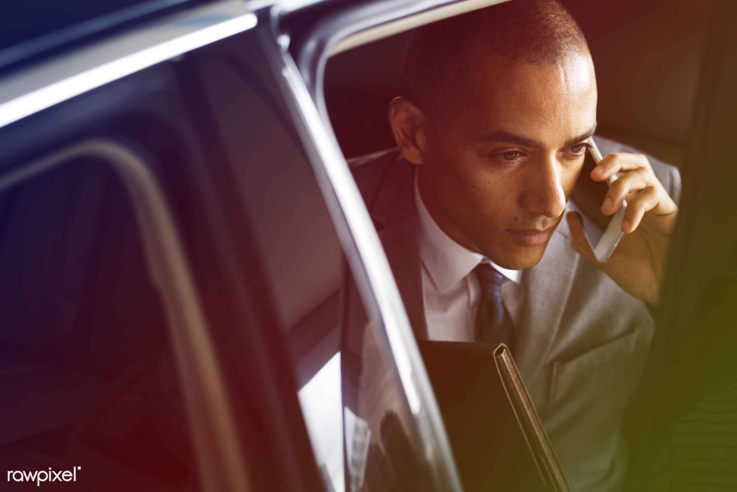 adult, back seat, business, businessman, businessmen, call, candid, car, cellphone, communication, corporate, device,...