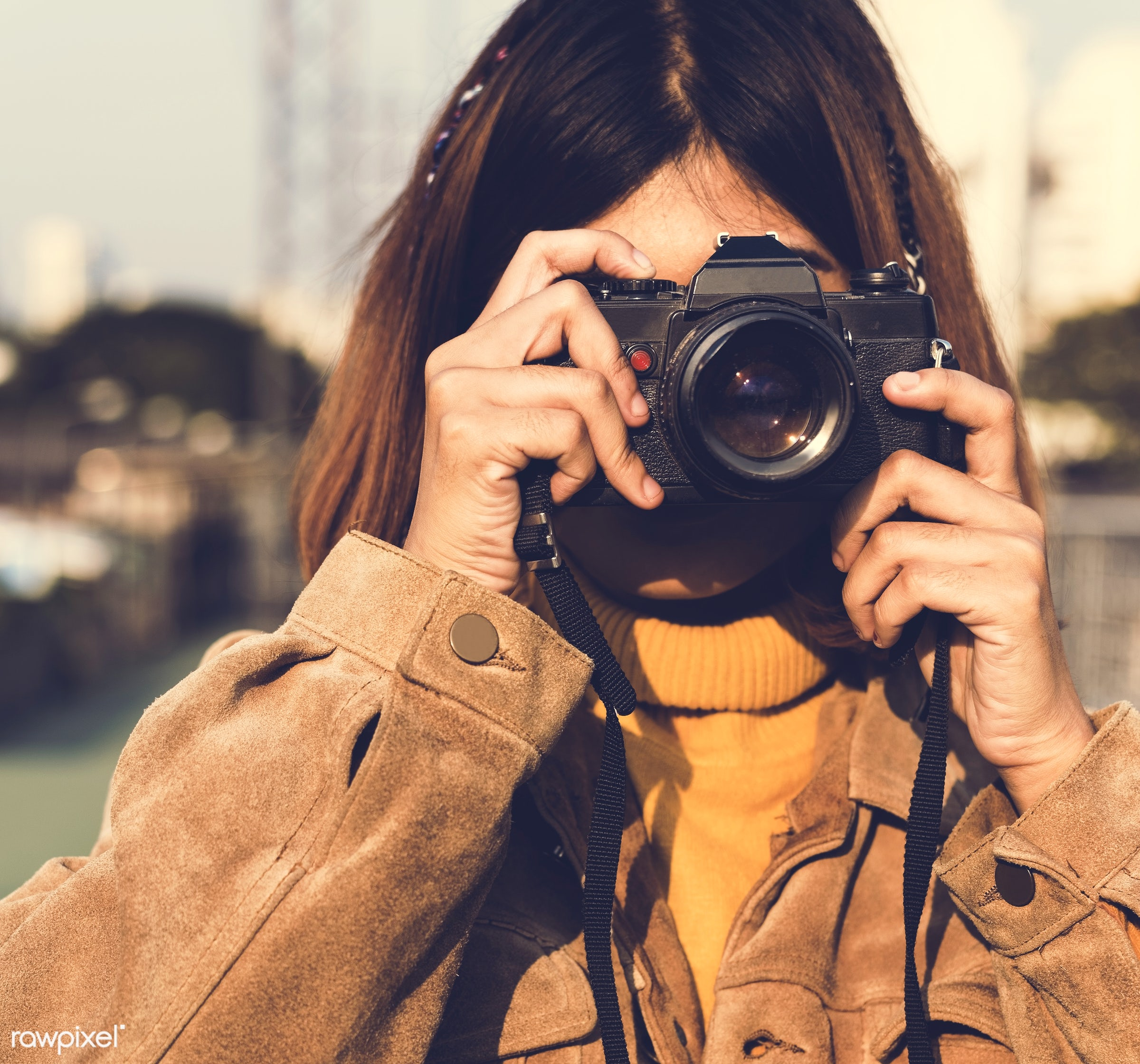 girl, woman, camera, photography, photographer, hobby, city, urban, taking, photo, picture, person