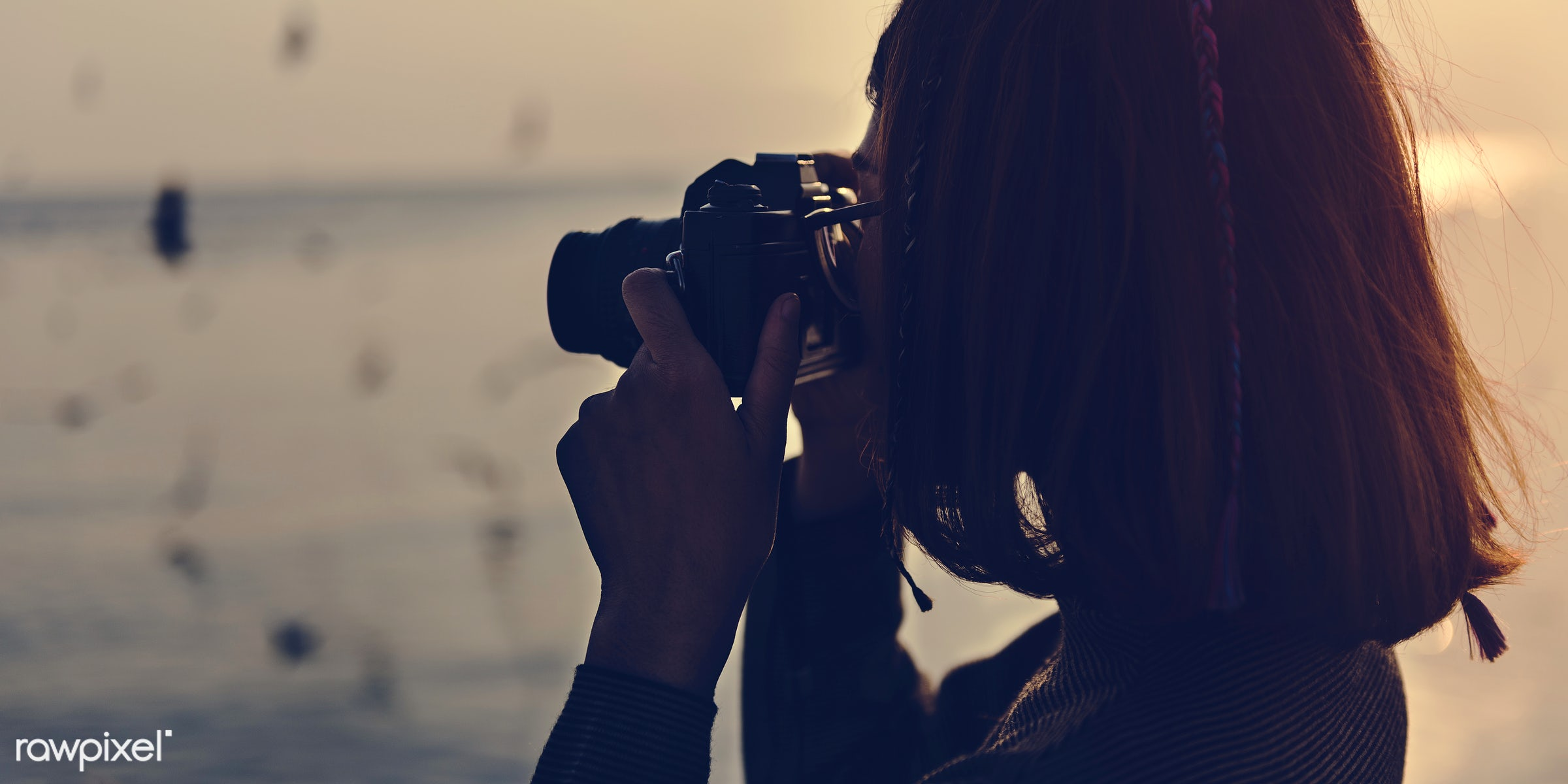 girl, woman, camera, taking, photo, picture, nature, outdoors, water, ocean, sea, photography, photographer, hobby, person