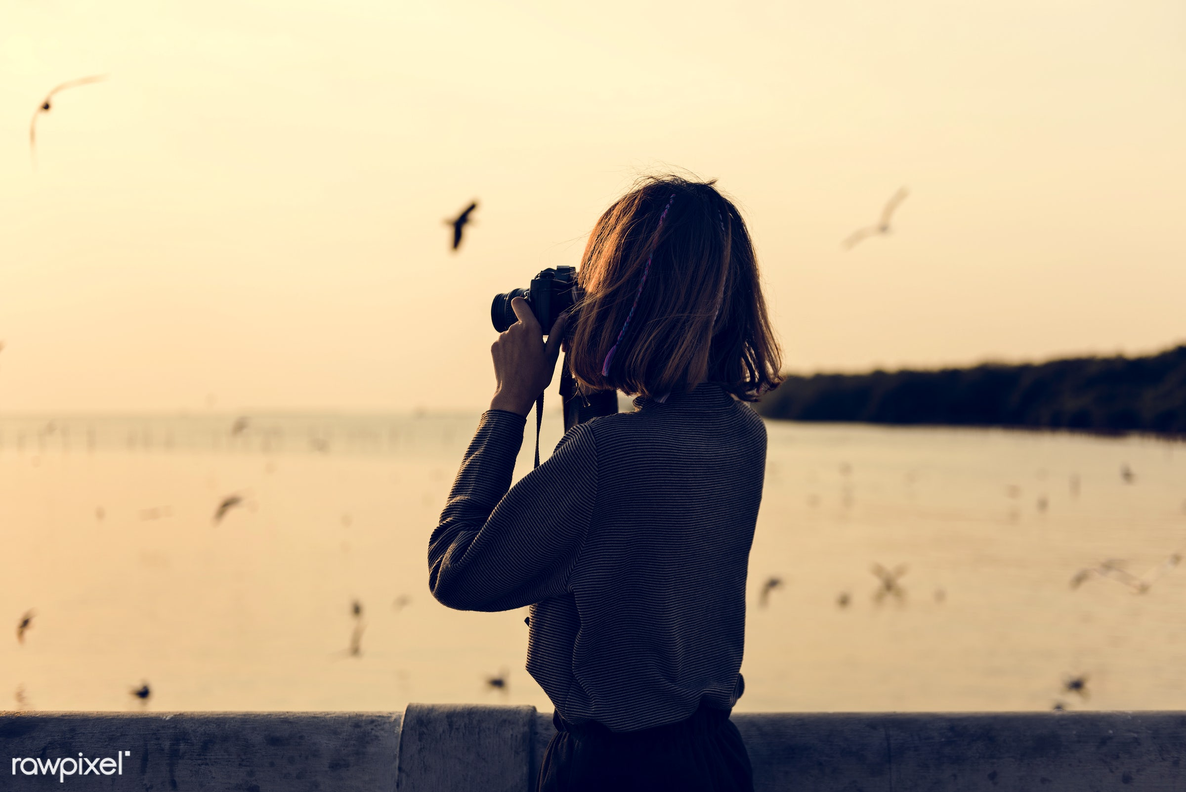 girl, woman, camera, photography, photographer, hobby, photo, picture, outdoors, nature, sea, water, ocean, sky, alone,...