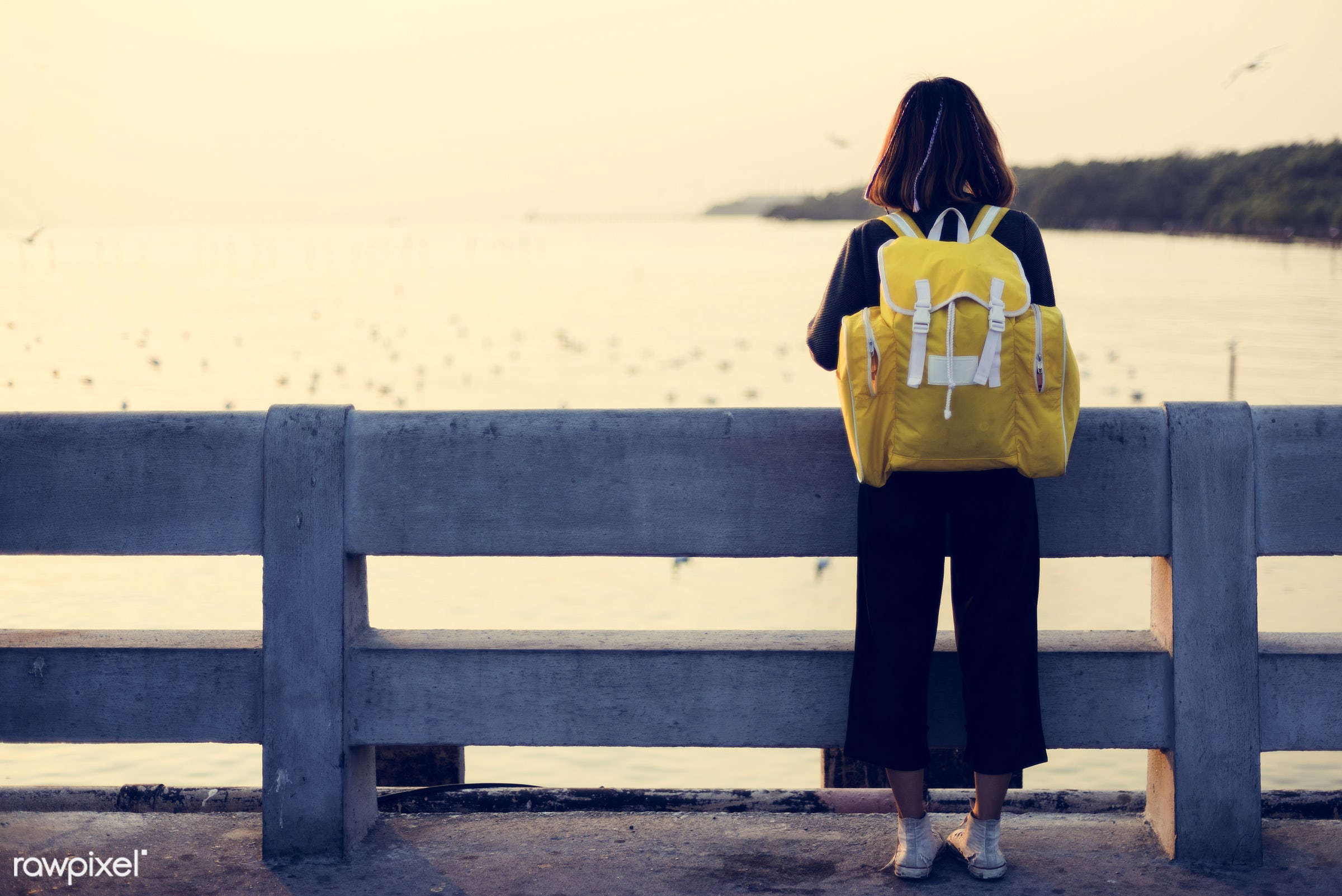 person, asian, nature, solo, woman, alone, outdoors, girl, backpack, bag, trip, wanderlust, travel, solitude, relaxing,...