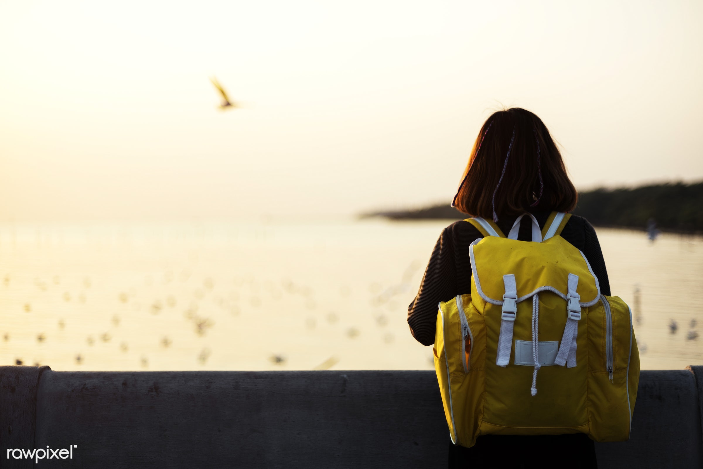 person, asian, girl, solo, nature, woman, backpack, alone, outdoors, bag, trip, wanderlust, travel, solitude, relaxing,...