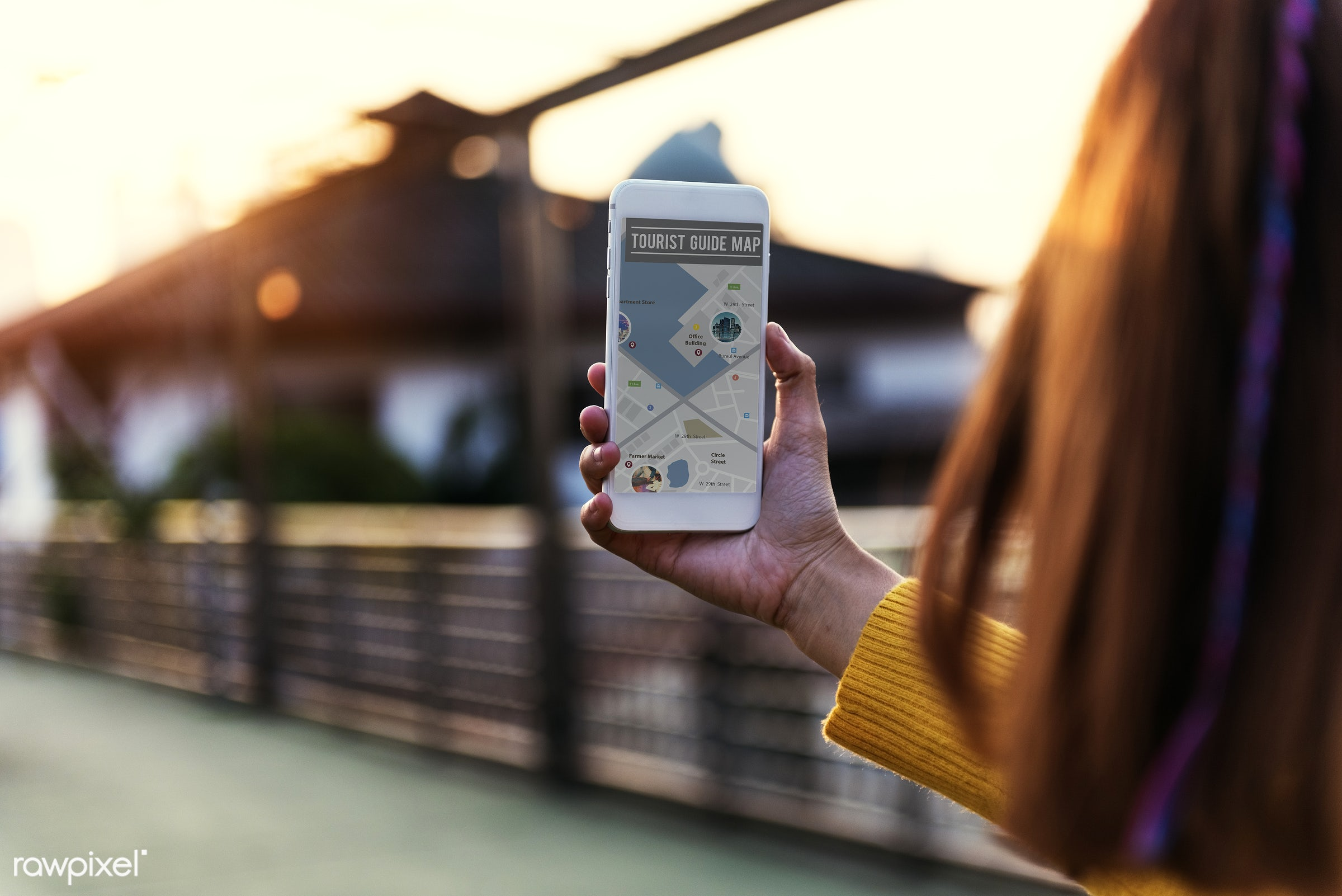 holding, map, travel, location, guide, mobile, phone, smartphone, wireless, technology, digital, navigation, direction,...