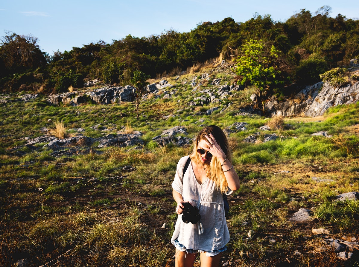 Young Woman Travel Nature Concept