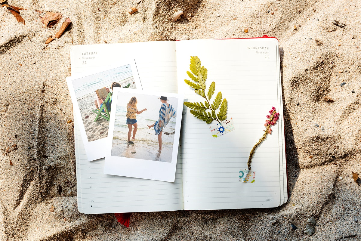Travel Diary Memories Pictures Concept