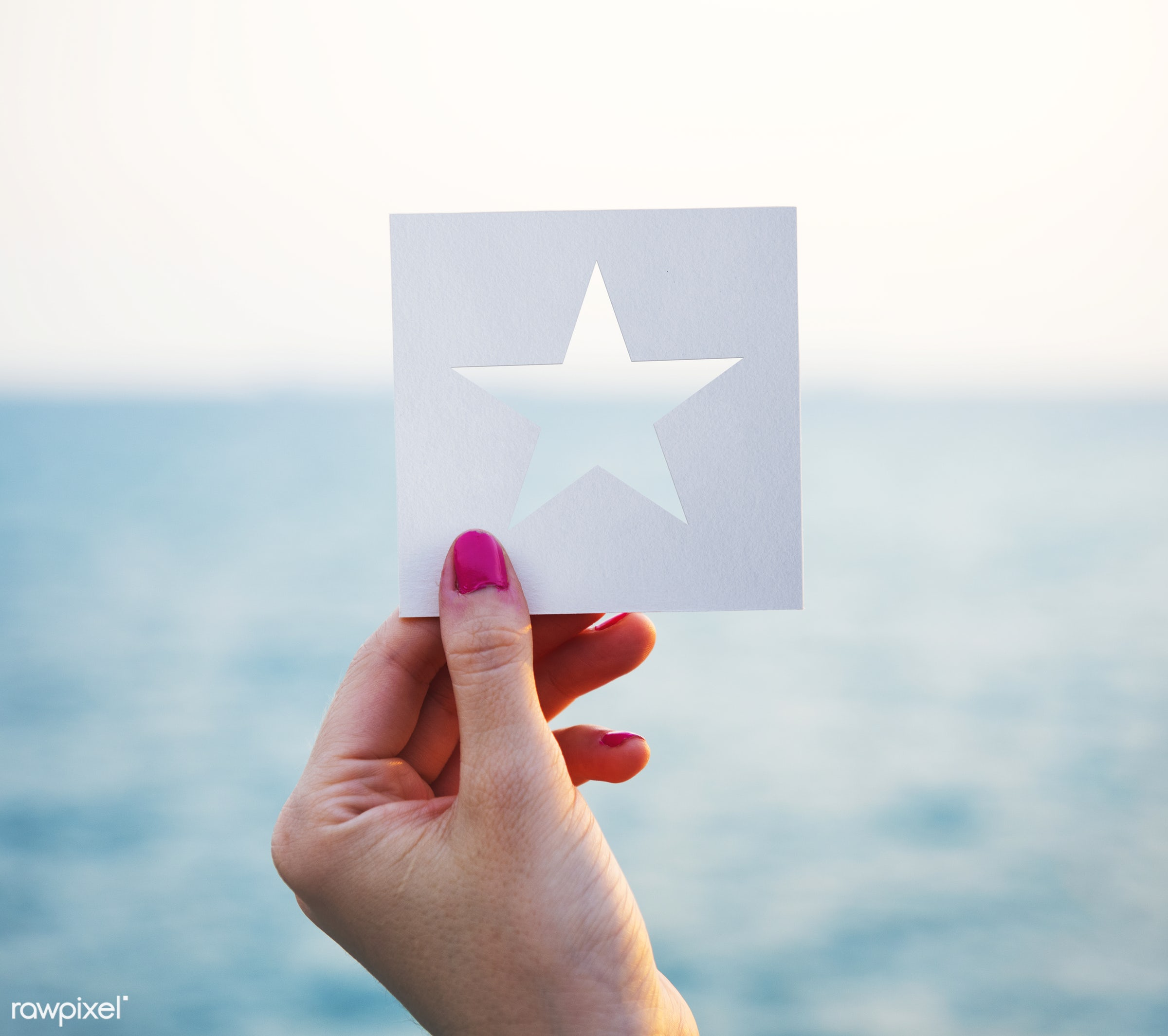 shore, craft, holding, paper, tranquil scene, ocean, travel, beach, recreation, hand, water, abstract, icon, paper craft,...